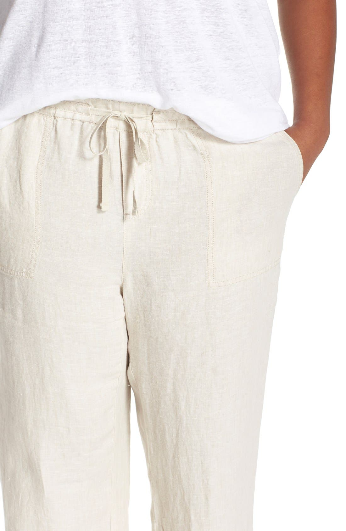 Drawstring Linen Pants,                             Alternate thumbnail 33, color,