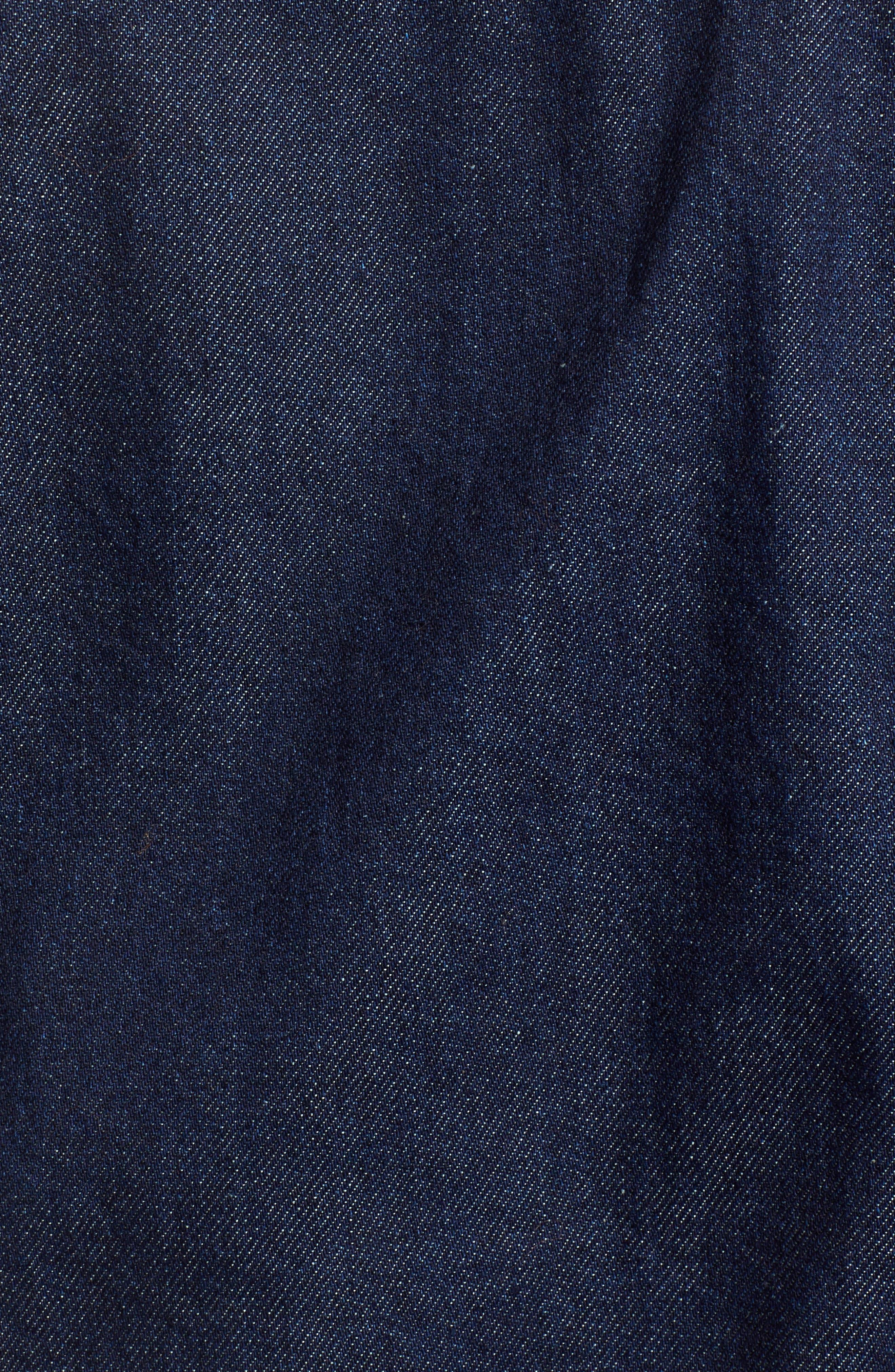 Tilda Faux Fur Trim Denim Jacket,                             Alternate thumbnail 6, color,                             402