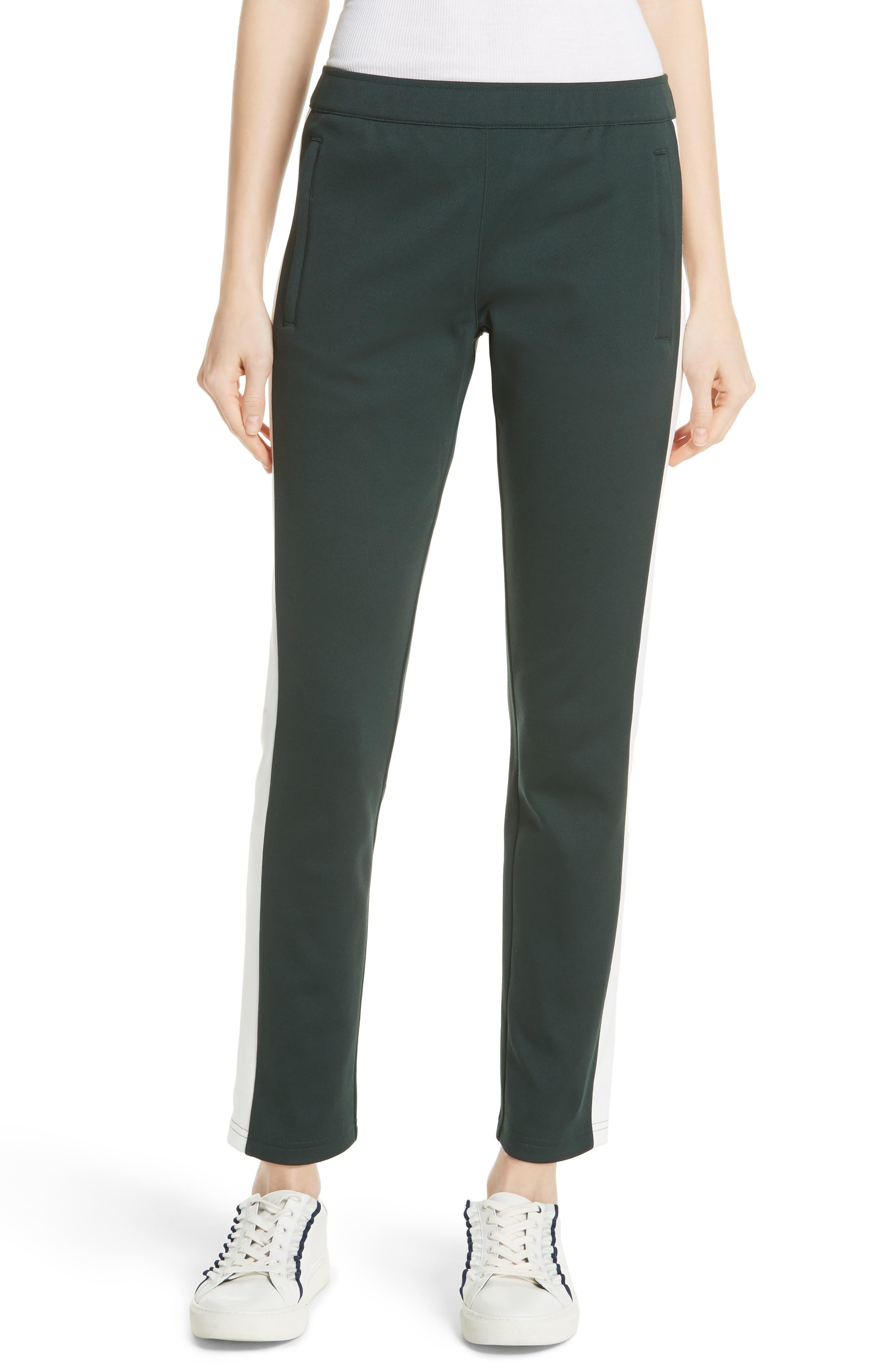 Colorblock Track Pants,                         Main,                         color, CONIFER