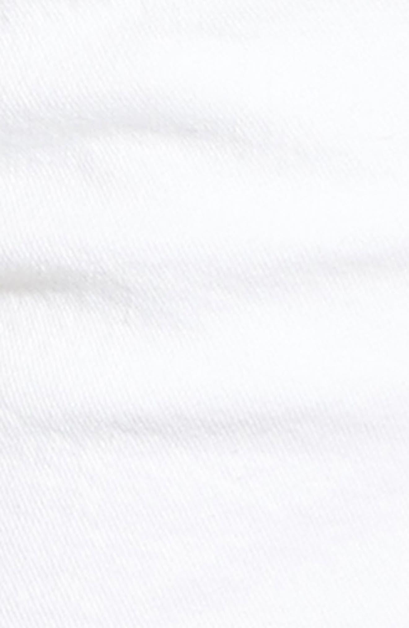 Cutoff Denim Shorts,                             Alternate thumbnail 6, color,                             CLEAN WHITE