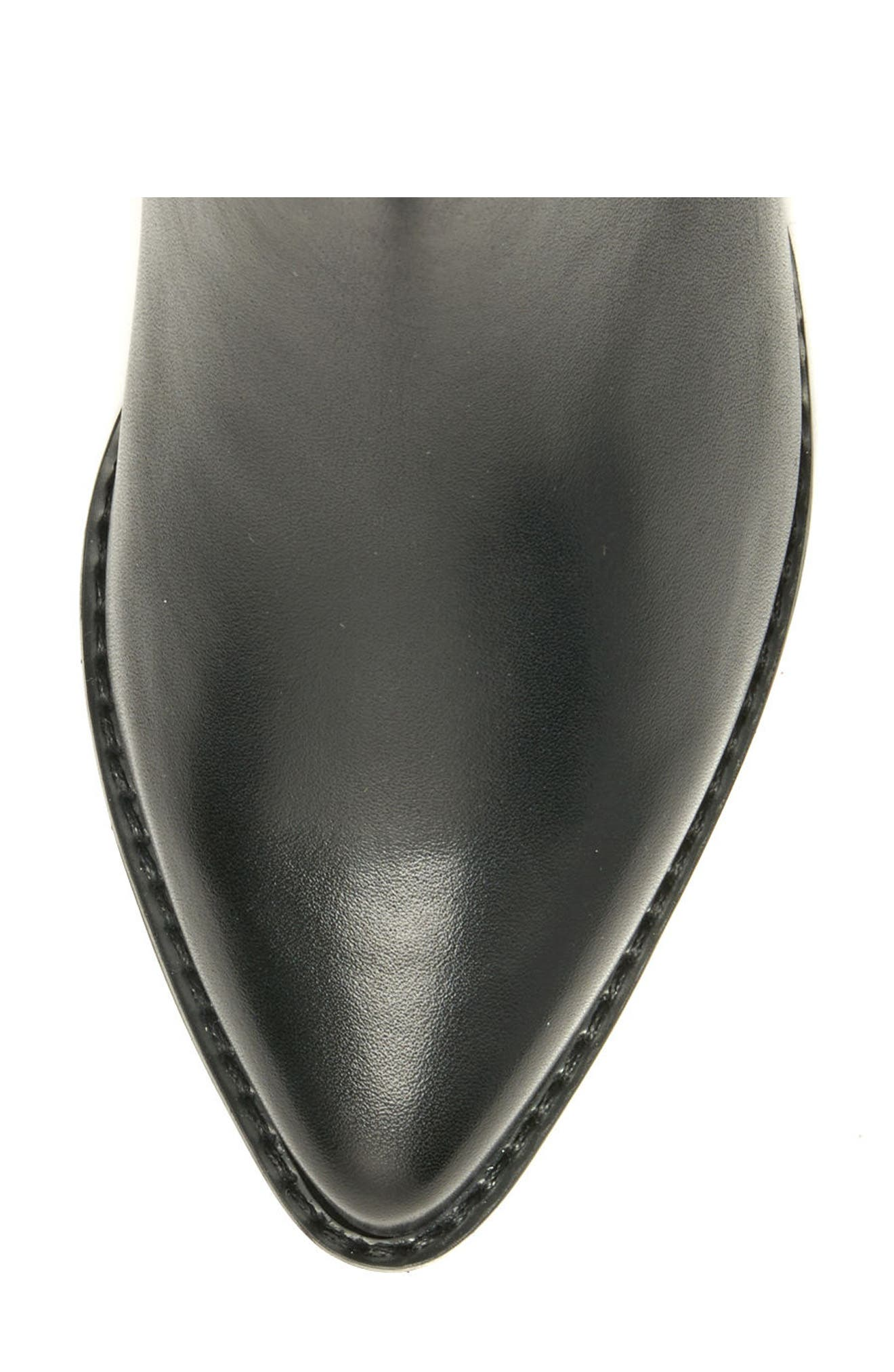 Elvina Waterproof Bootie,                             Alternate thumbnail 5, color,                             BLACK LEATHER
