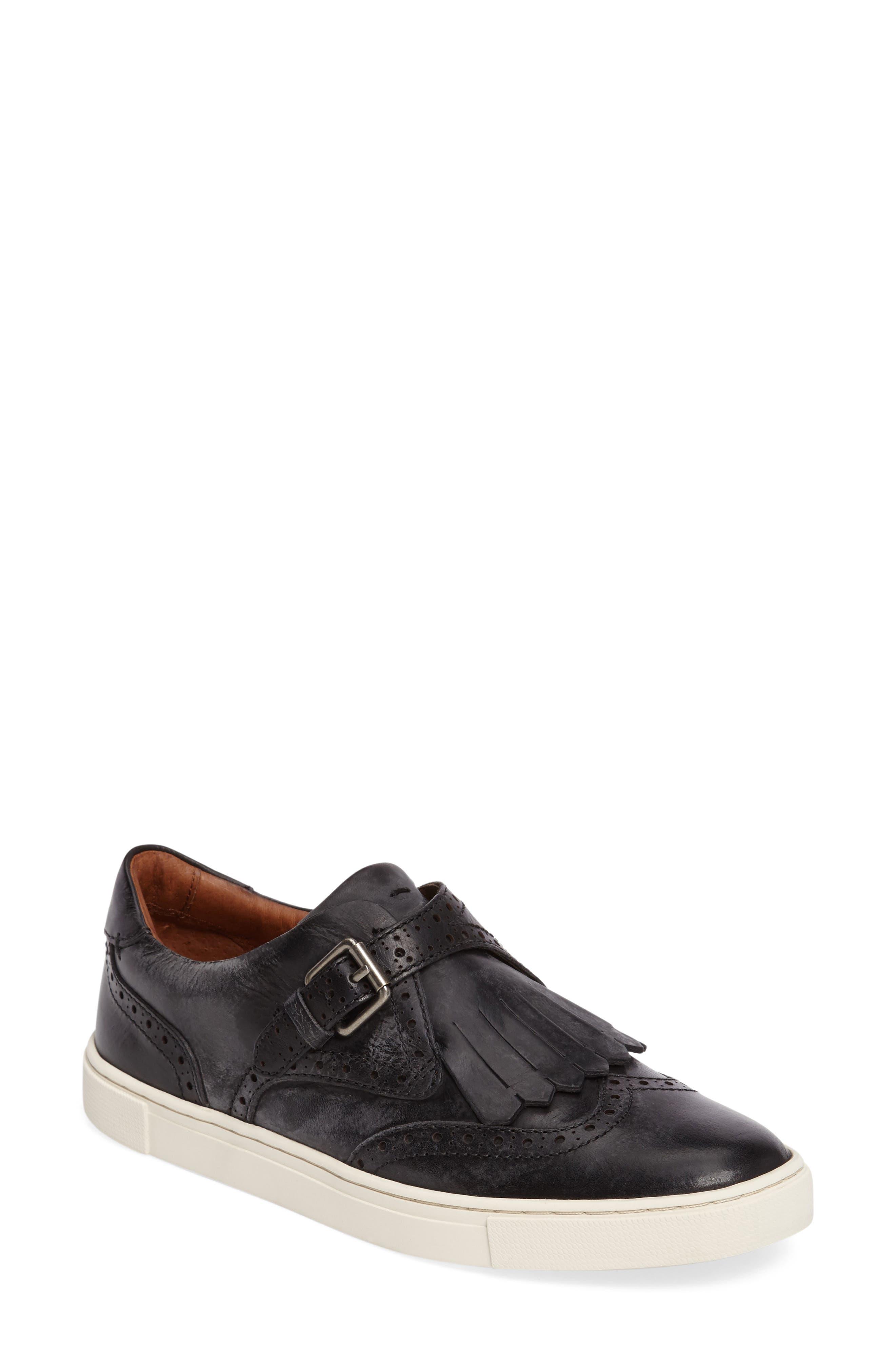 'Gemma' Kiltie Slip On-Sneaker,                             Main thumbnail 1, color,                             001