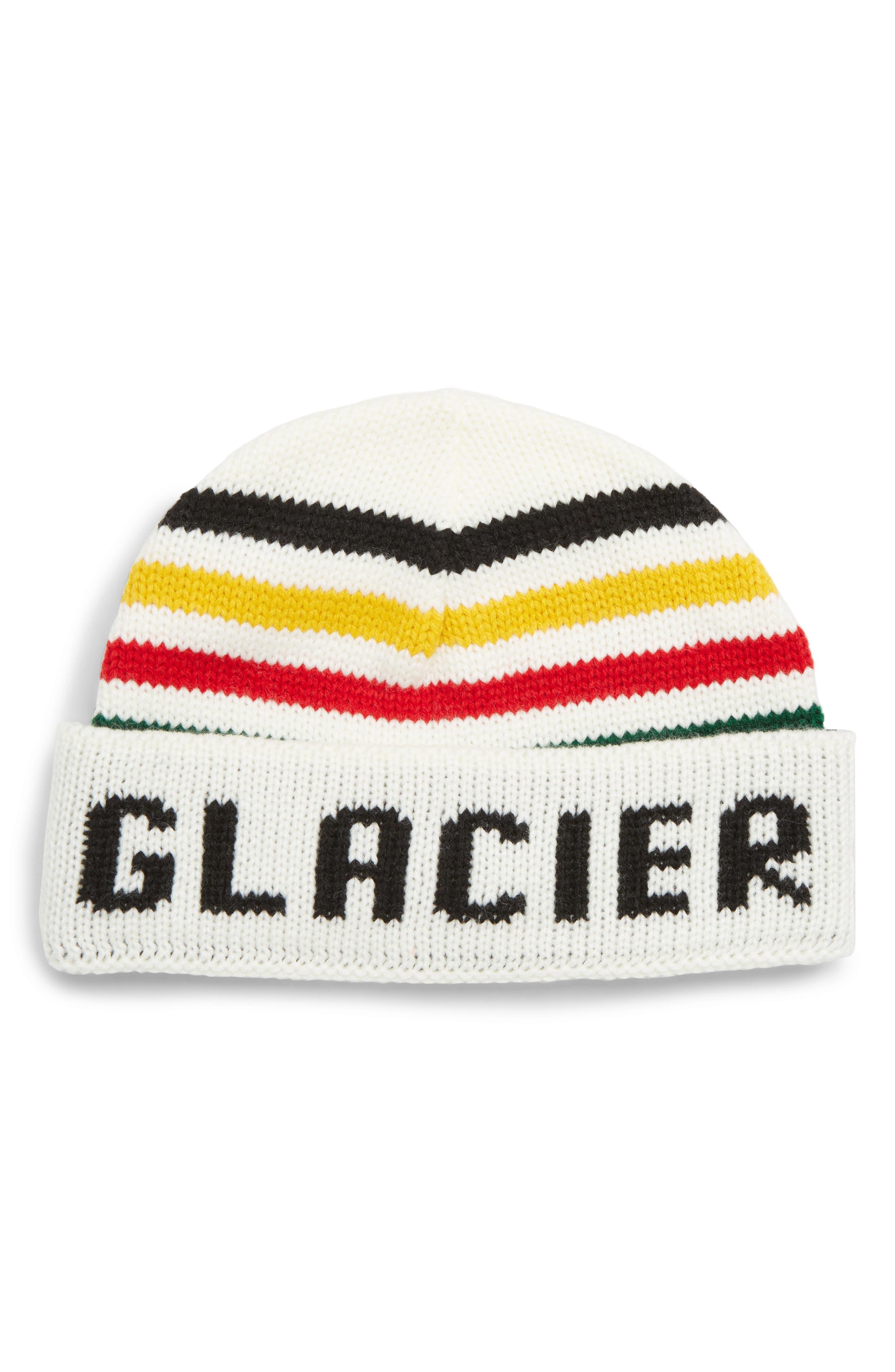 PENDLETON National Park Script Beanie - White in Glacier Stripe