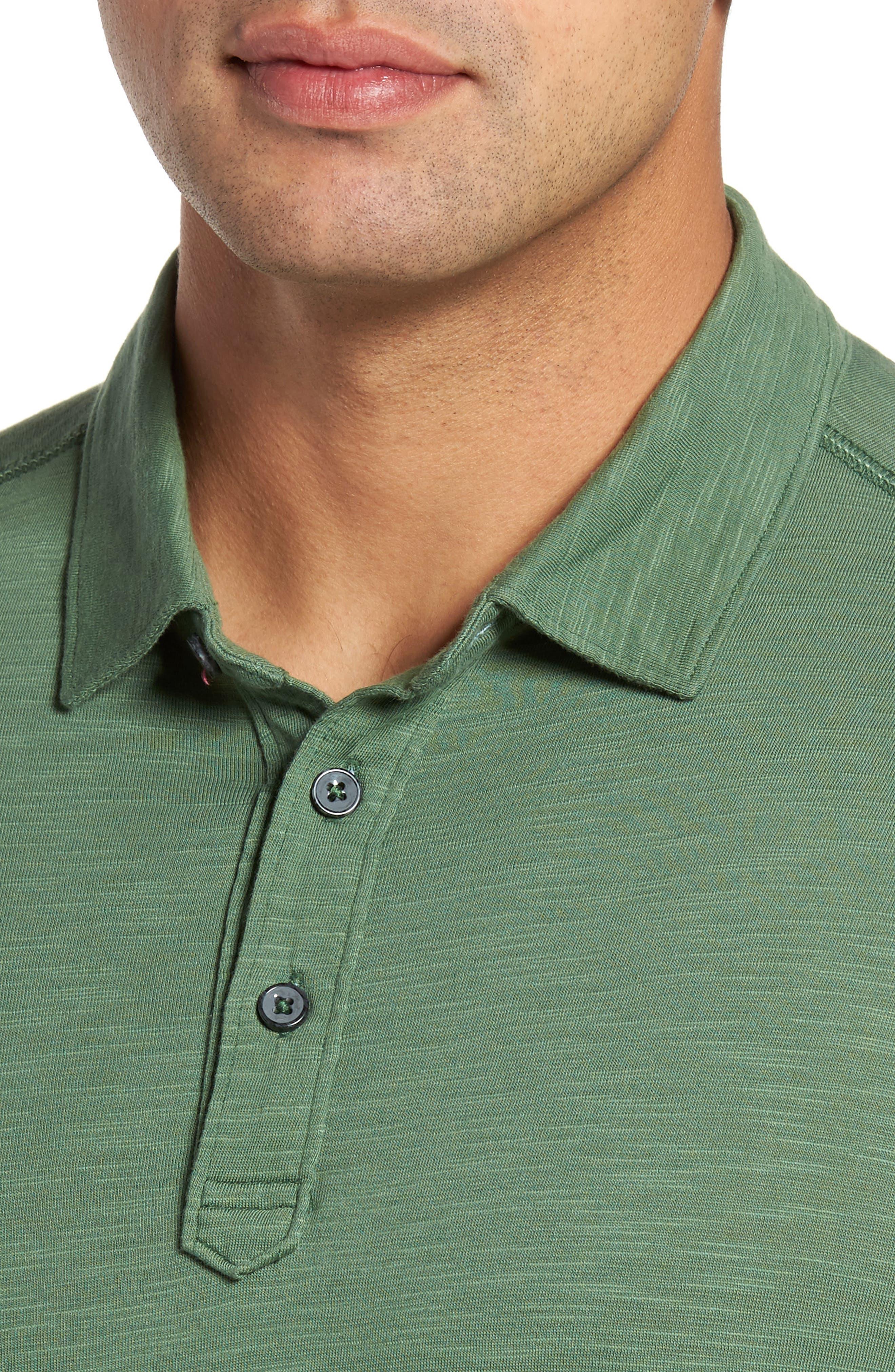 'Portside Player Spectator' Long Sleeve Jersey Polo,                             Alternate thumbnail 4, color,                             301