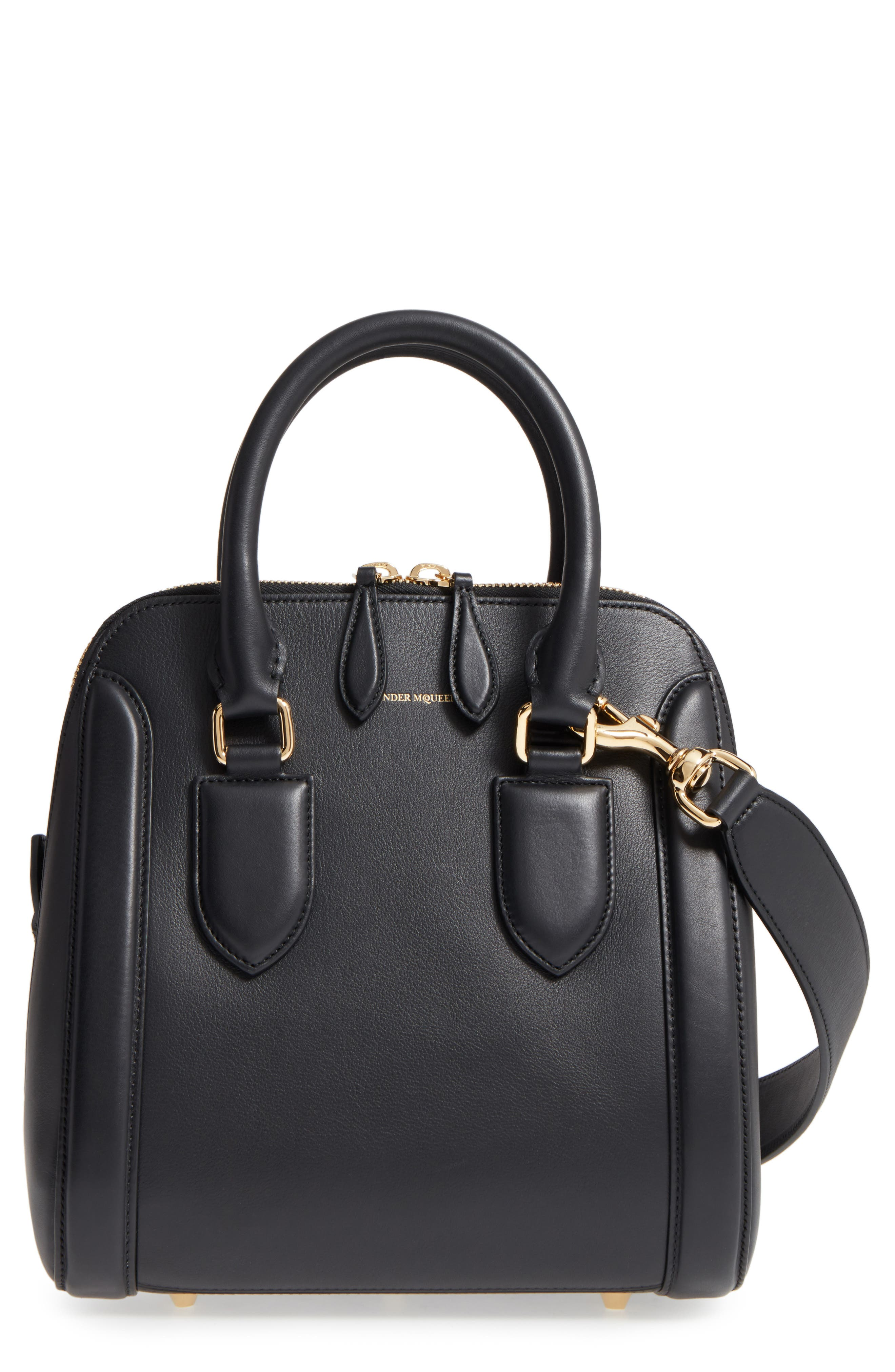 Medium Heroine Leather Satchel,                         Main,                         color, 001