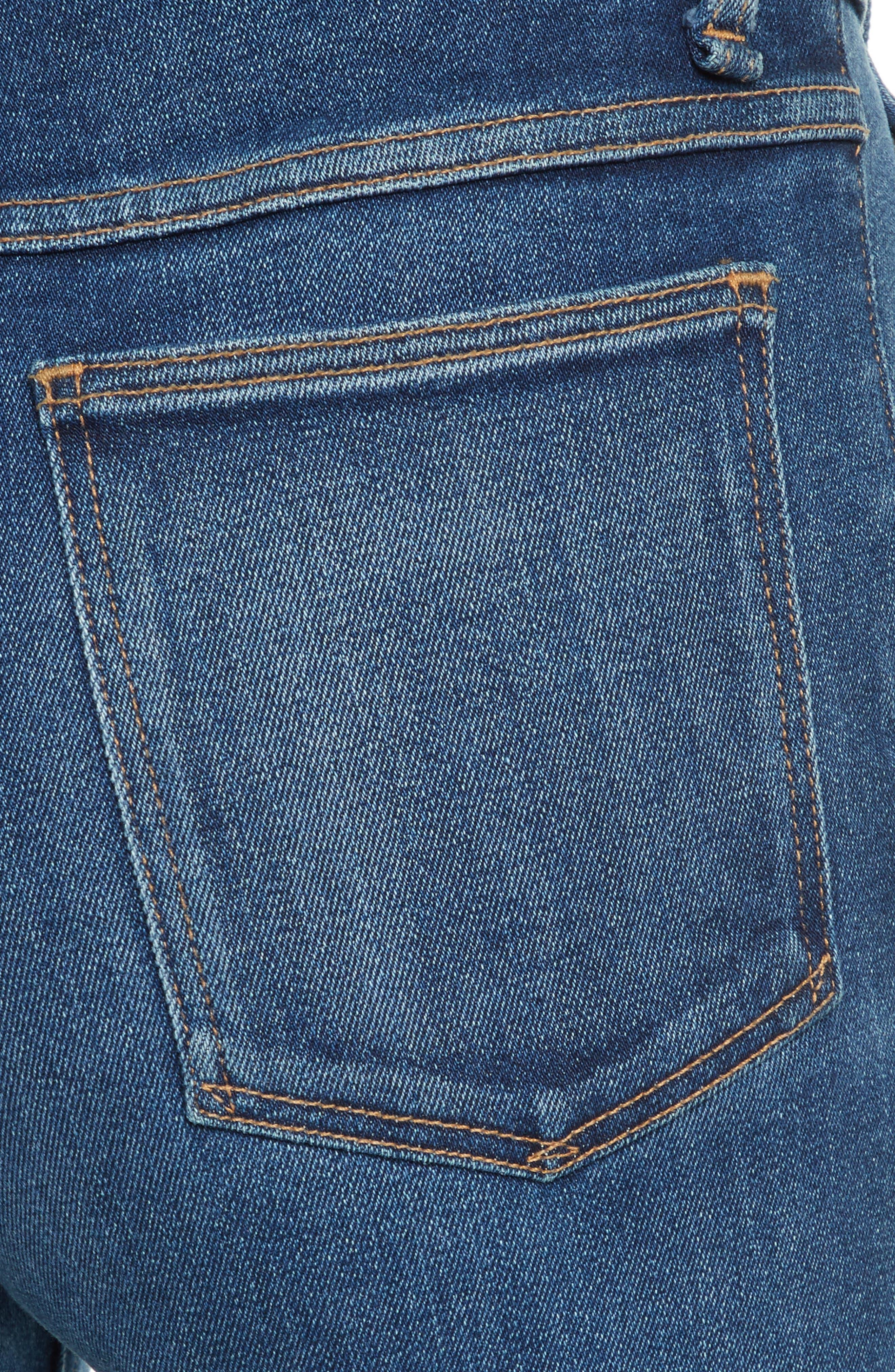 Justine High Waist Trouser Jeans,                             Alternate thumbnail 4, color,                             462