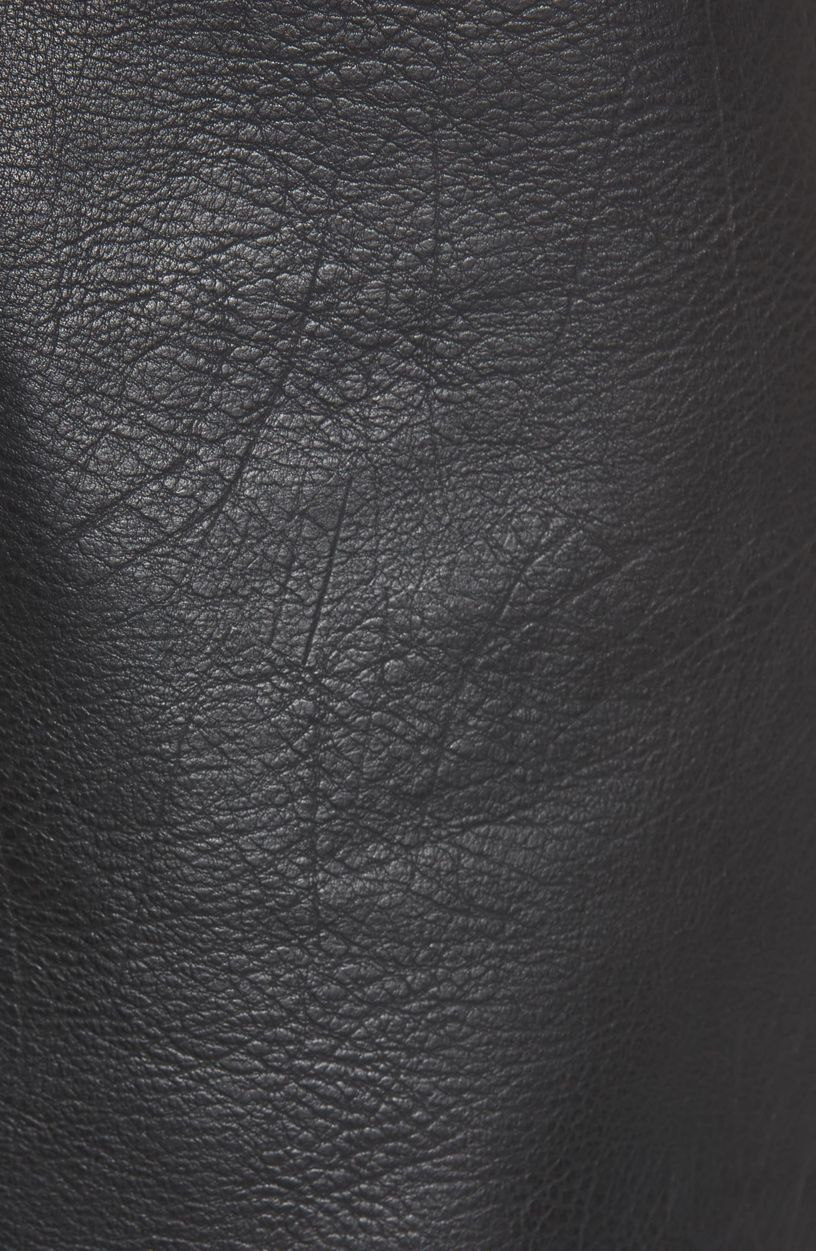 Faux Leather Shorts,                             Alternate thumbnail 5, color,                             001
