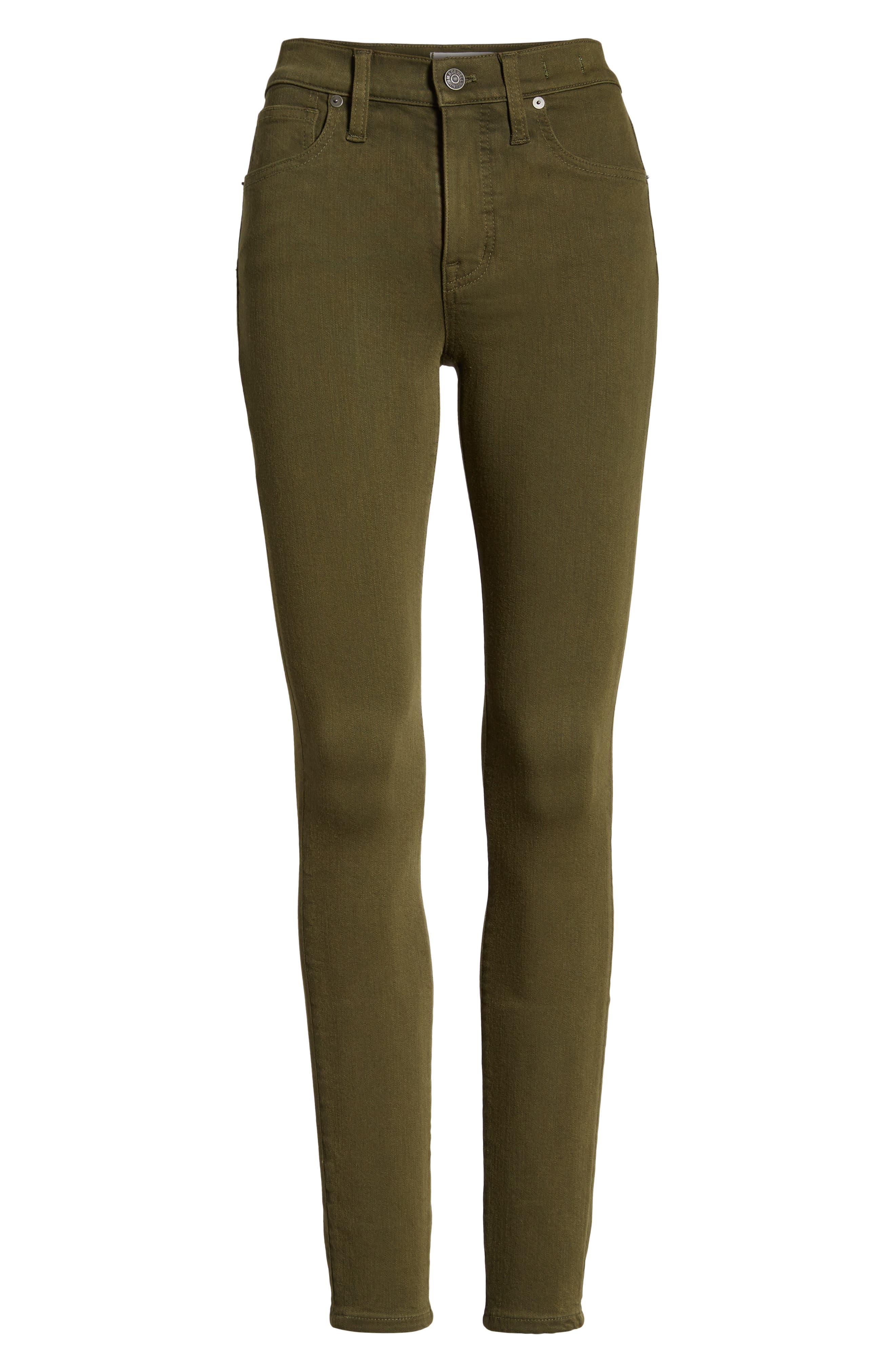 High Waist Skinny Jeans,                             Alternate thumbnail 6, color,                             300