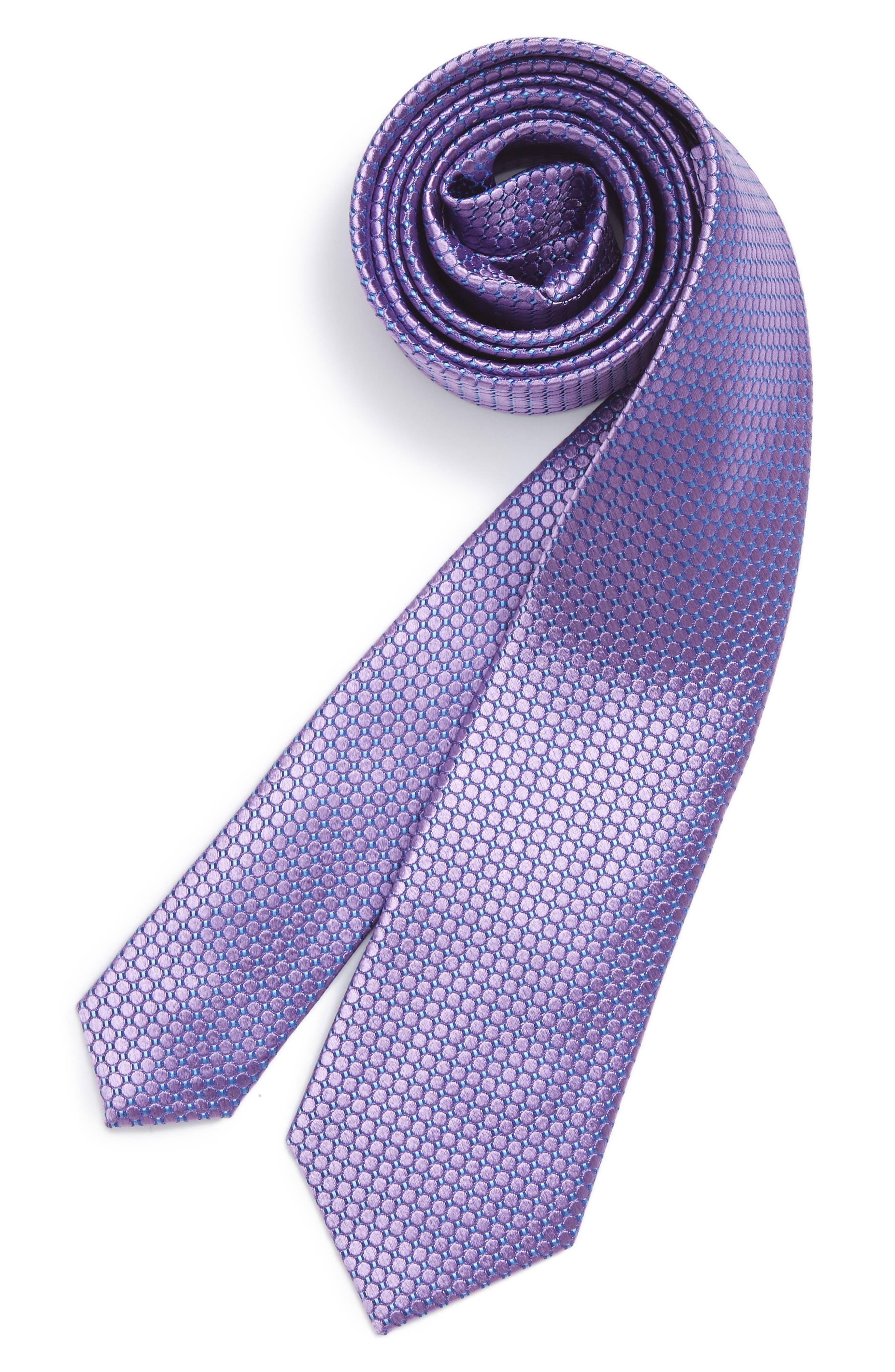 Dot Grid Silk Tie,                             Main thumbnail 1, color,                             541