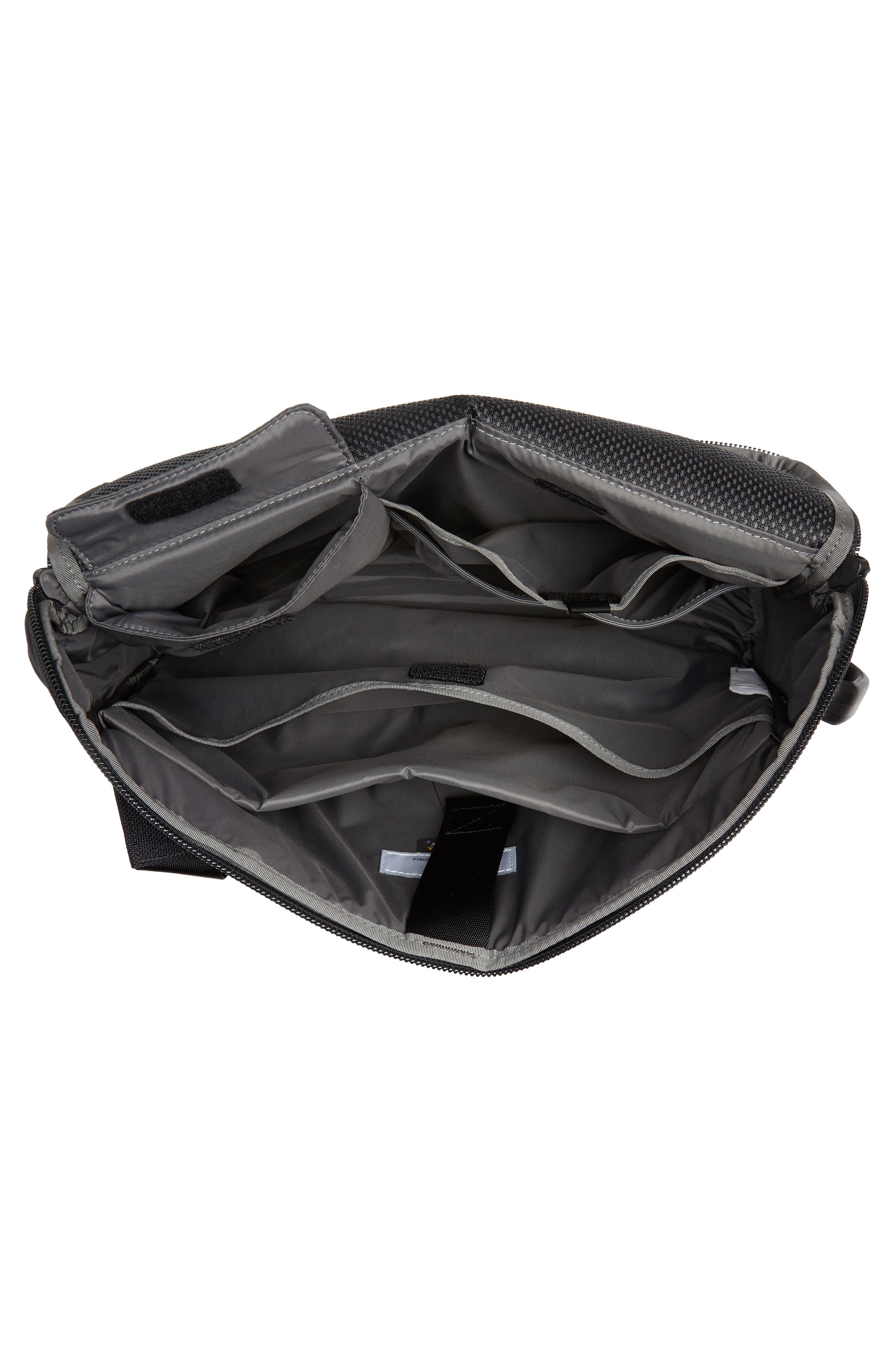 Travel Sling Crossbody Bag,                             Alternate thumbnail 4, color,                             BLACK