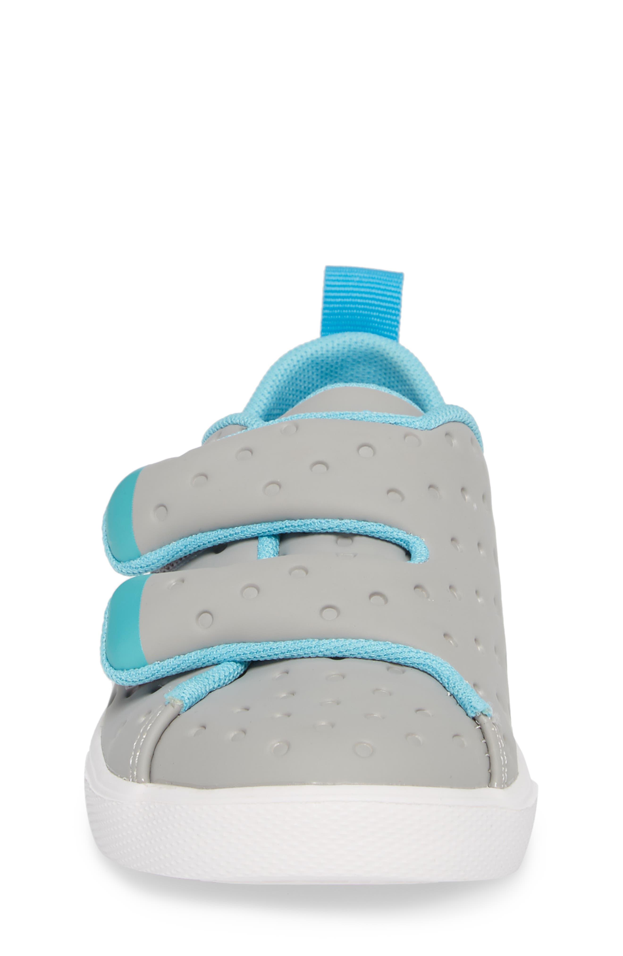 Monaco Sneaker,                             Alternate thumbnail 4, color,                             PIGEON GREY/ POOL BOOL/ WHITE