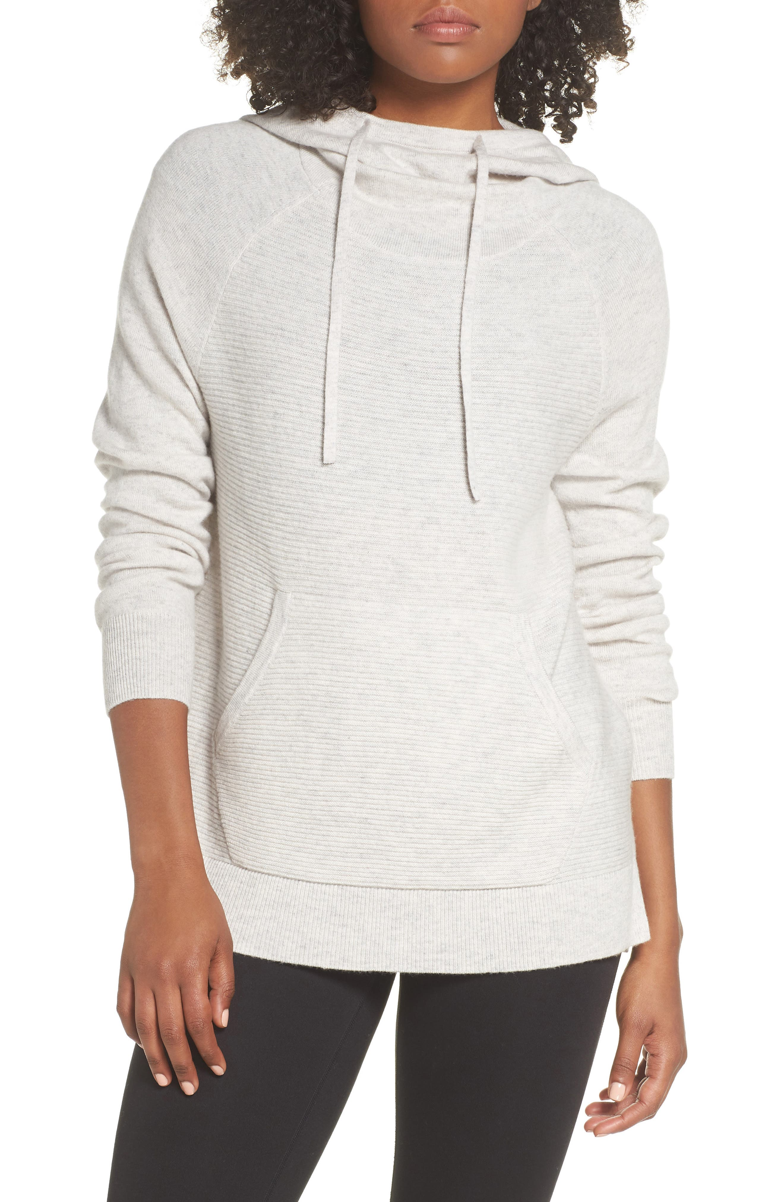 Cashmere and Wool Hoodie,                             Main thumbnail 1, color,                             022