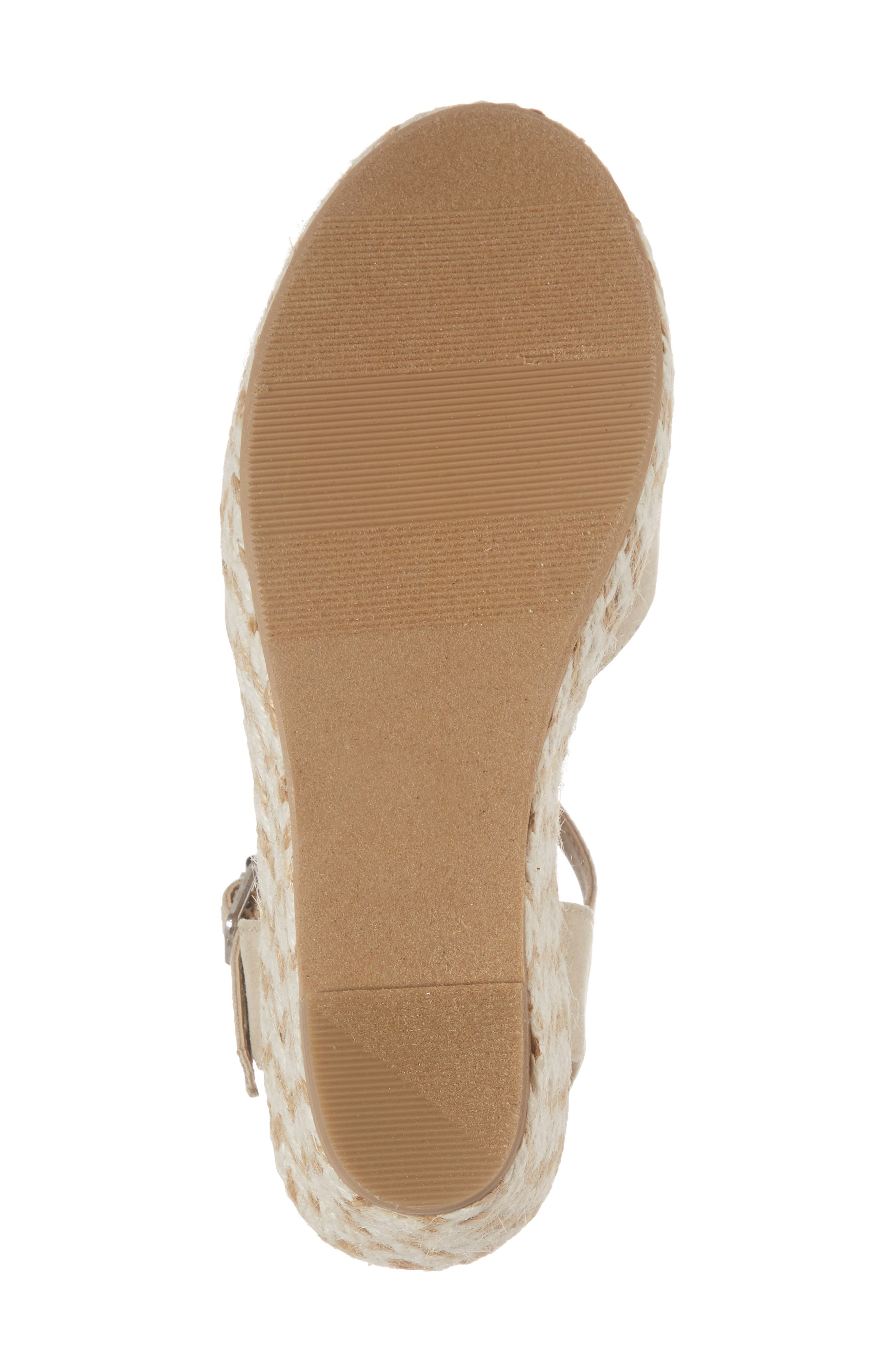 Wendy Espadrille Wedge Sandal,                             Alternate thumbnail 6, color,                             277
