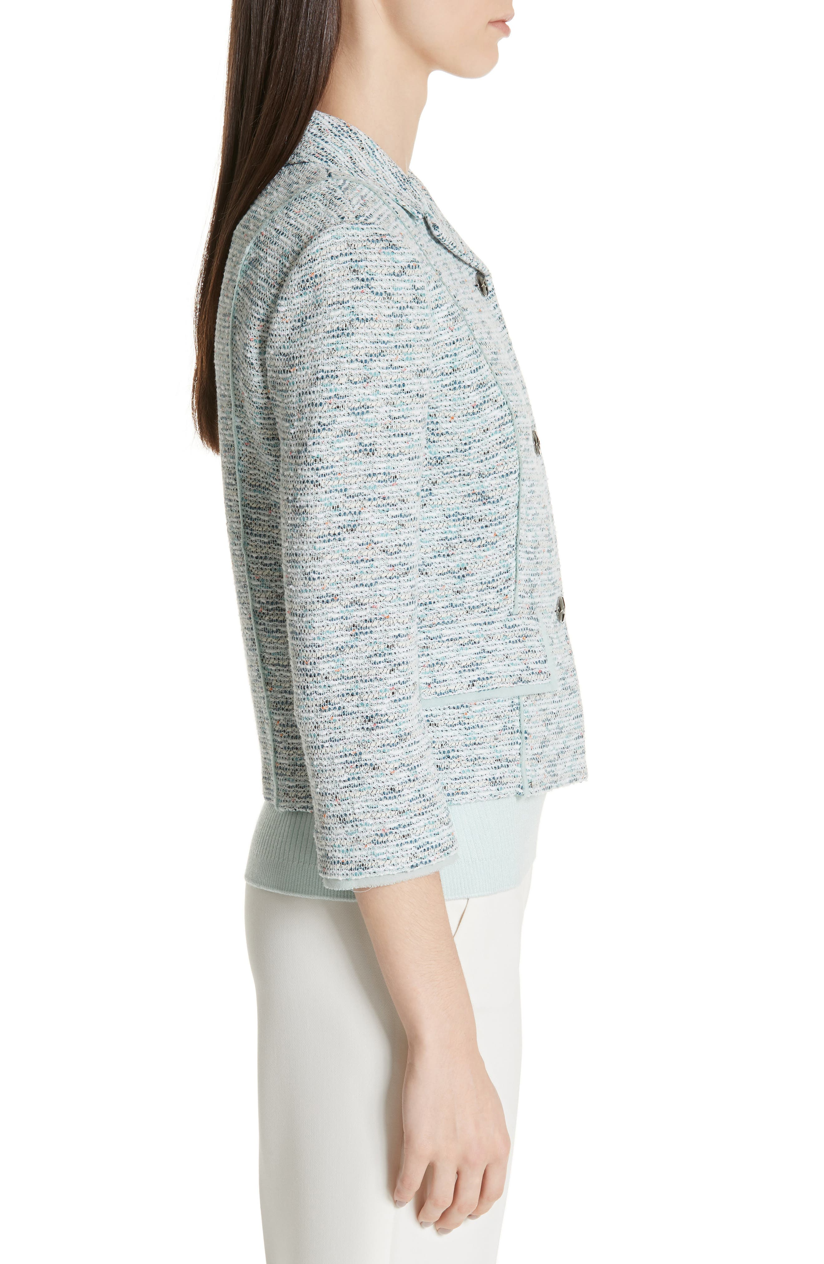 ST. JOHN COLLECTION,                             Alessandra Knit Jacket,                             Alternate thumbnail 3, color,                             OPAL MULTI
