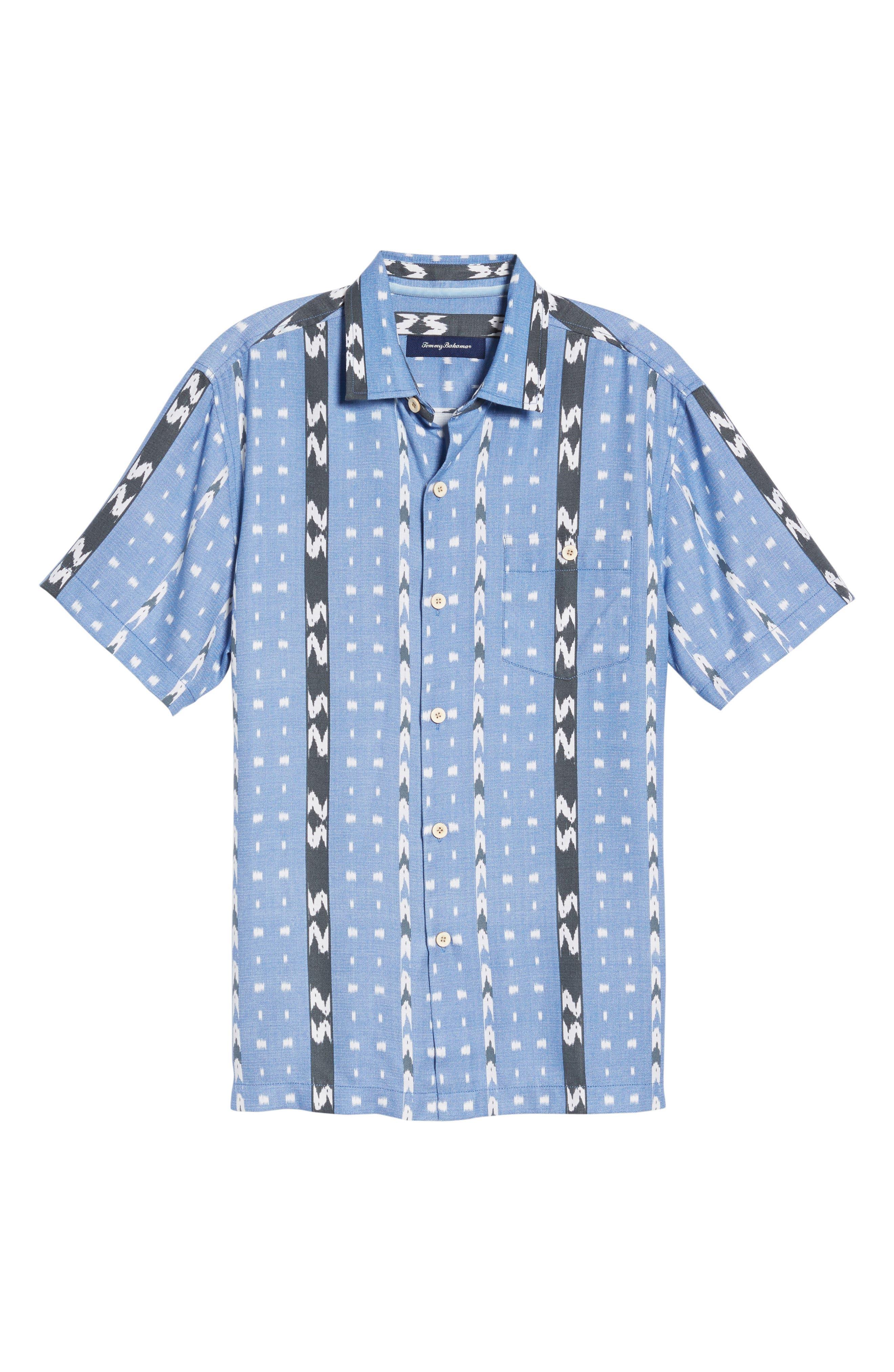 Ikat Don't Stop Silk Blend Camp Shirt,                             Alternate thumbnail 6, color,                             400