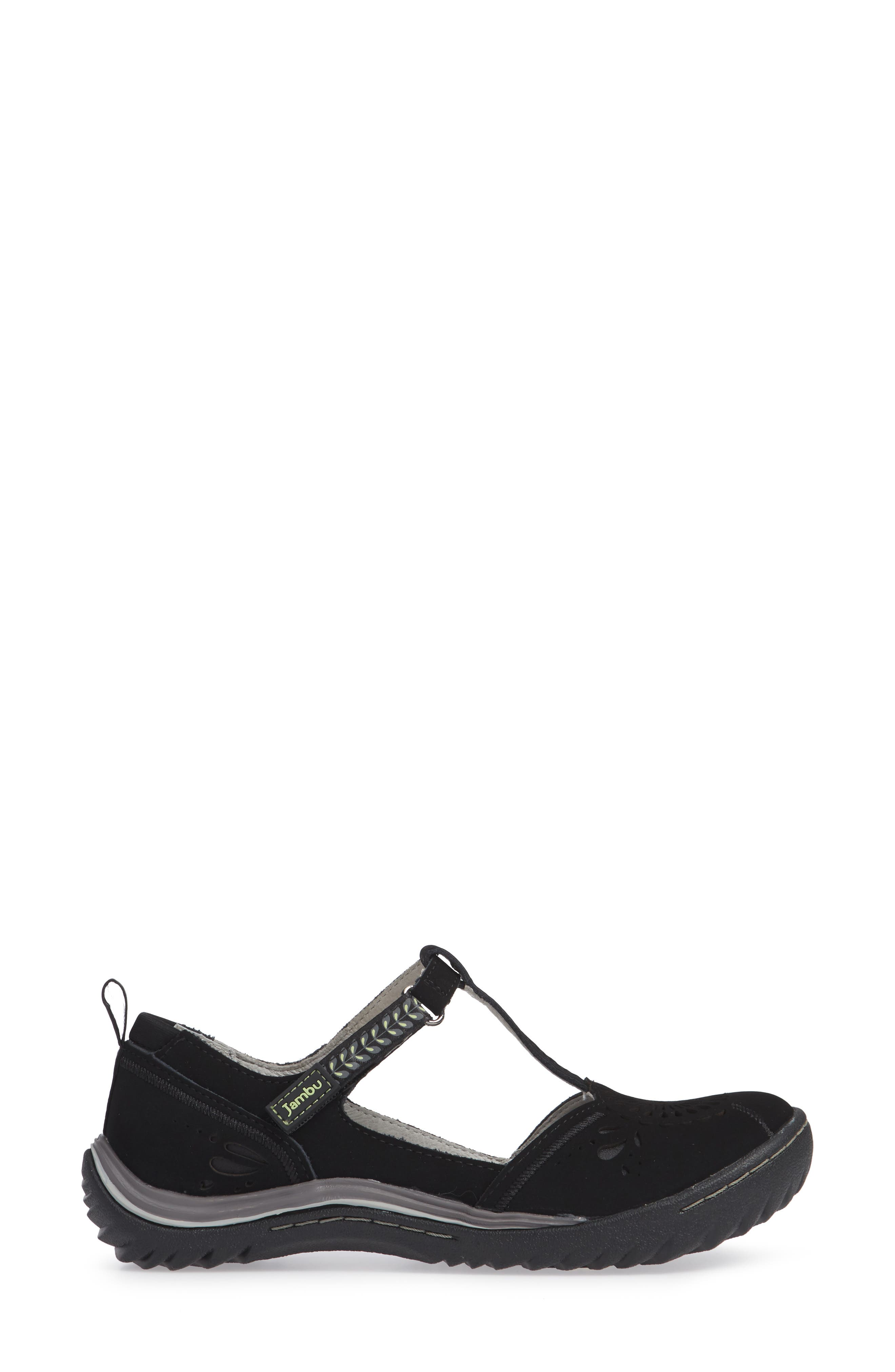 Sunkist Strappy Sneaker,                             Alternate thumbnail 3, color,                             BLACK/ CHIVE NUBUCK LEATHER