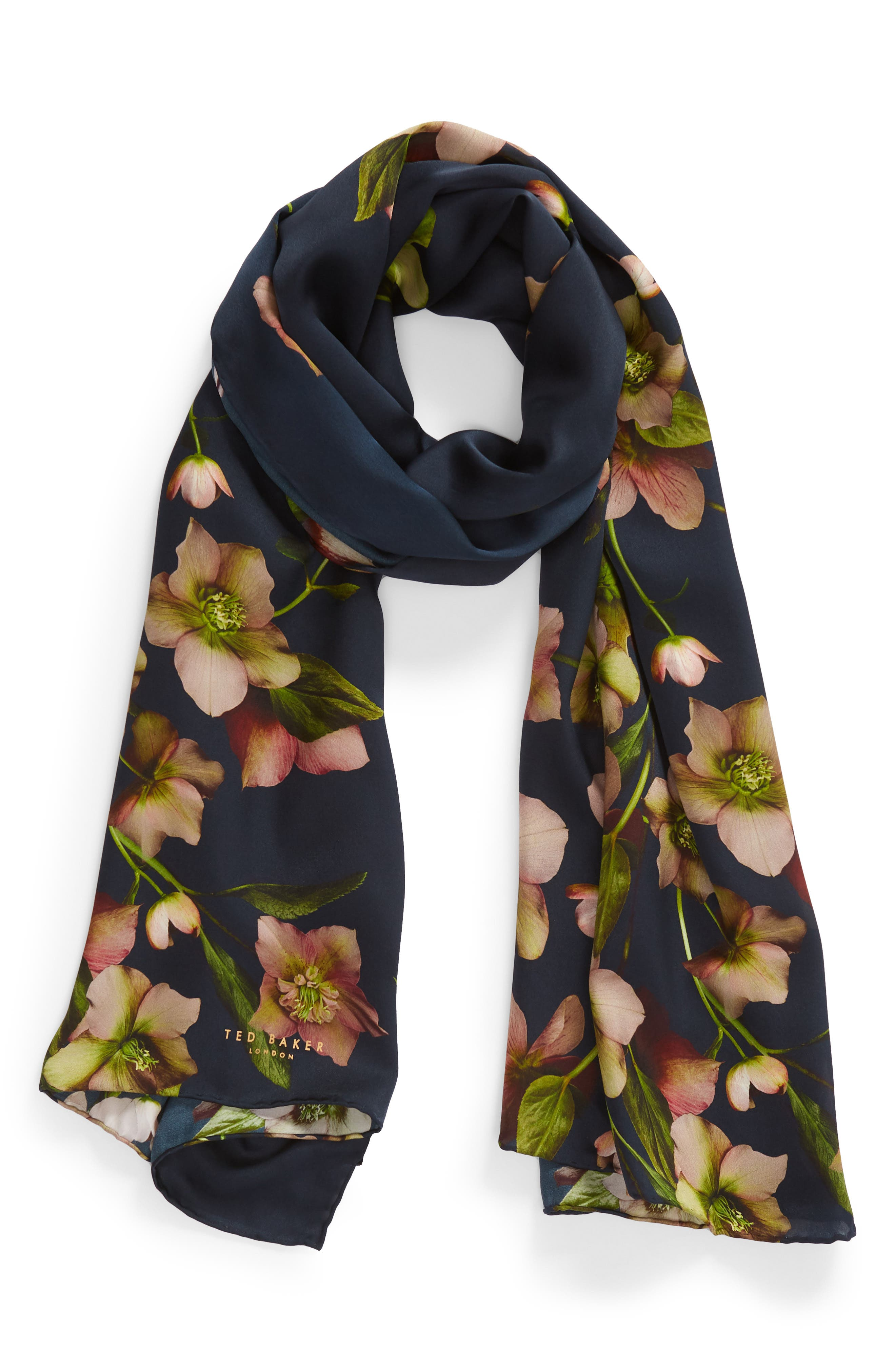Arboretum Long Silk Stain Scarf,                             Alternate thumbnail 2, color,                             402