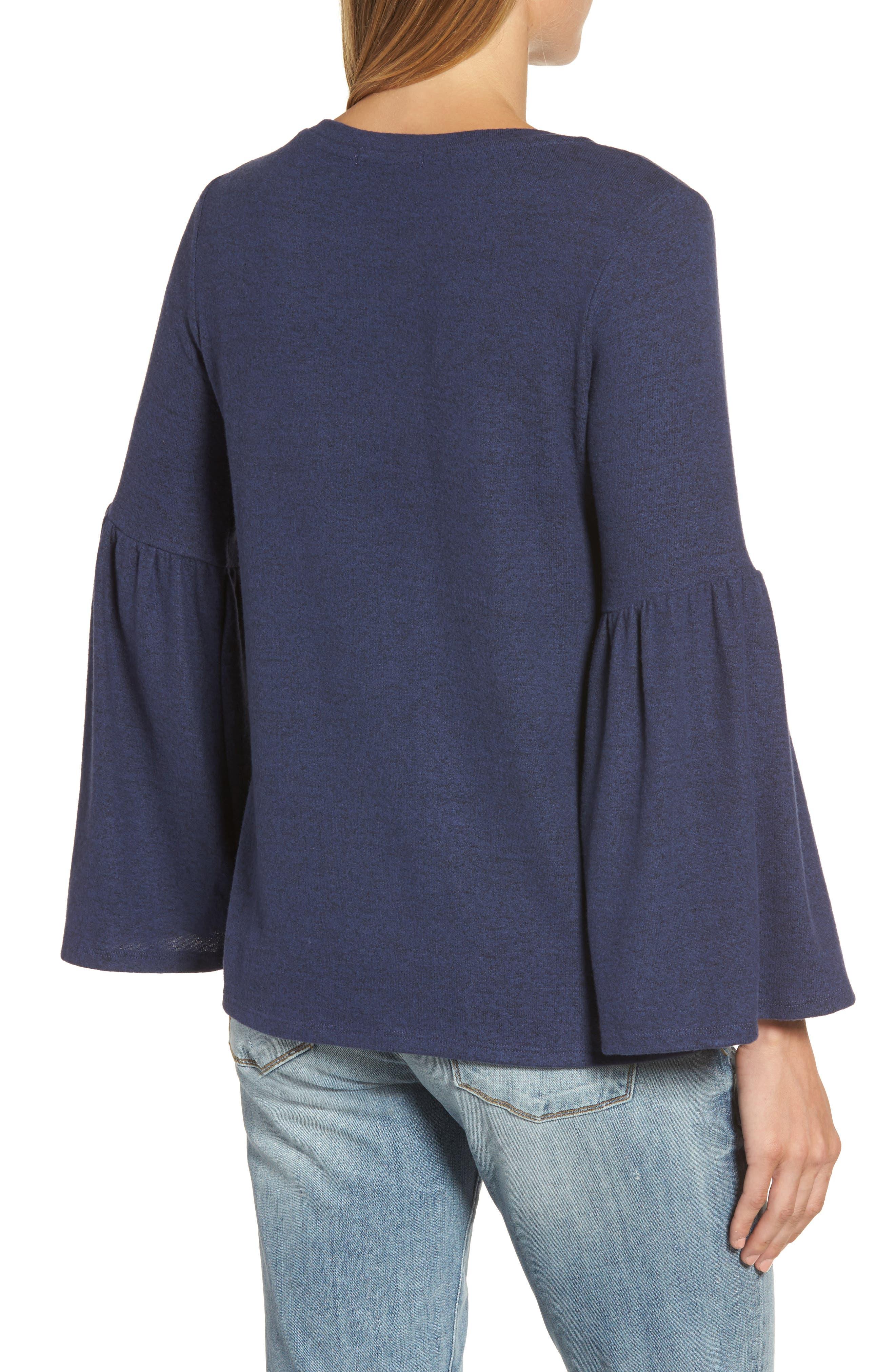 GIBSON,                             Bell Sleeve Cozy Fleece Pullover,                             Alternate thumbnail 2, color,                             415