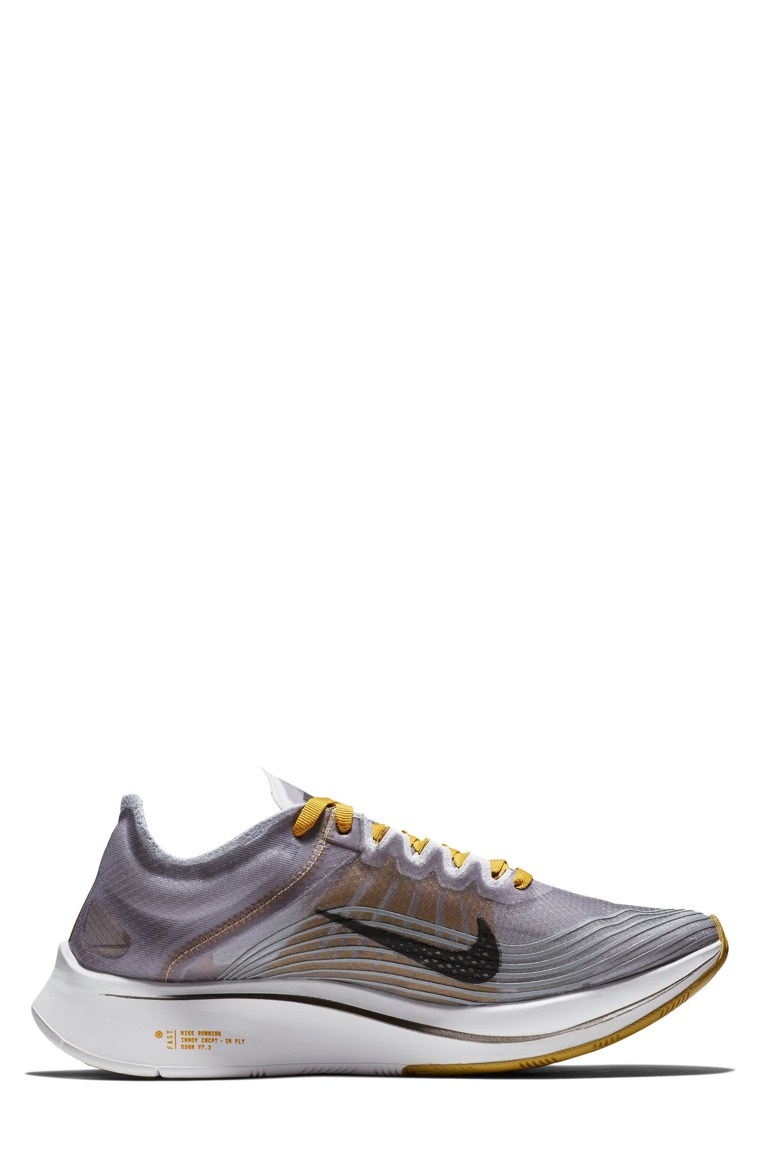 Zoom Fly SP Running Shoe,                             Alternate thumbnail 6, color,                             BLACK/ PEAT MOSS/ WHITE