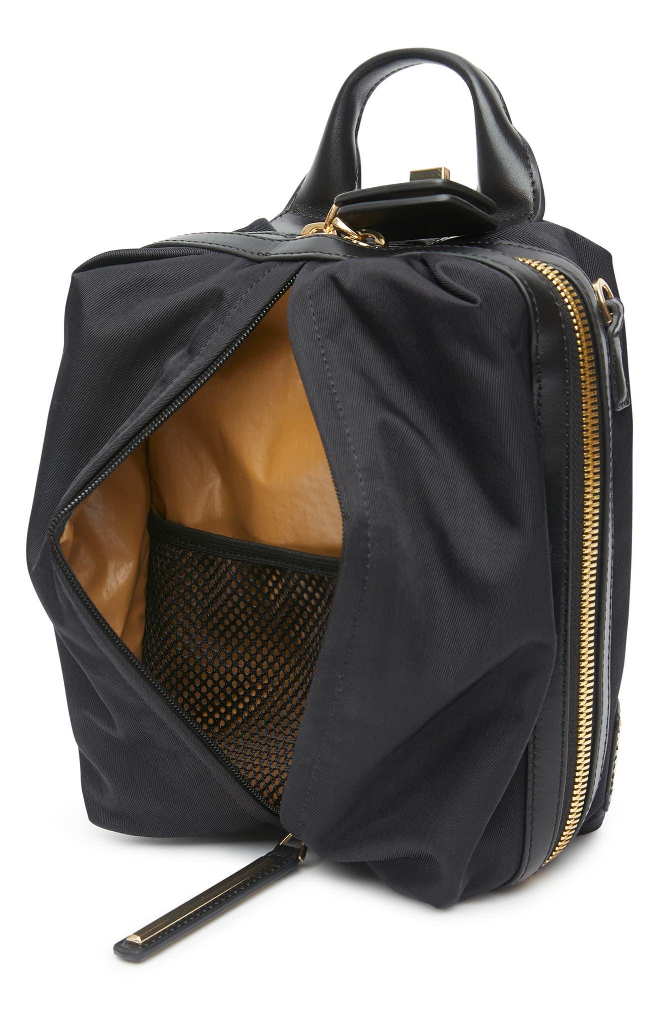 Studio 2 Mini Duffel Bag,                             Alternate thumbnail 3, color,                             BLACK GOLD