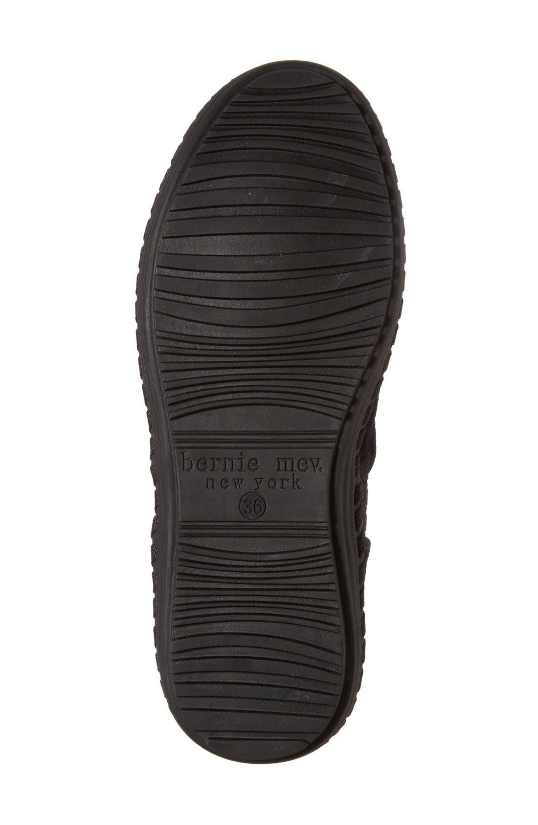 Faux Fur Lined Loafer Slipper,                             Alternate thumbnail 4, color,                             001