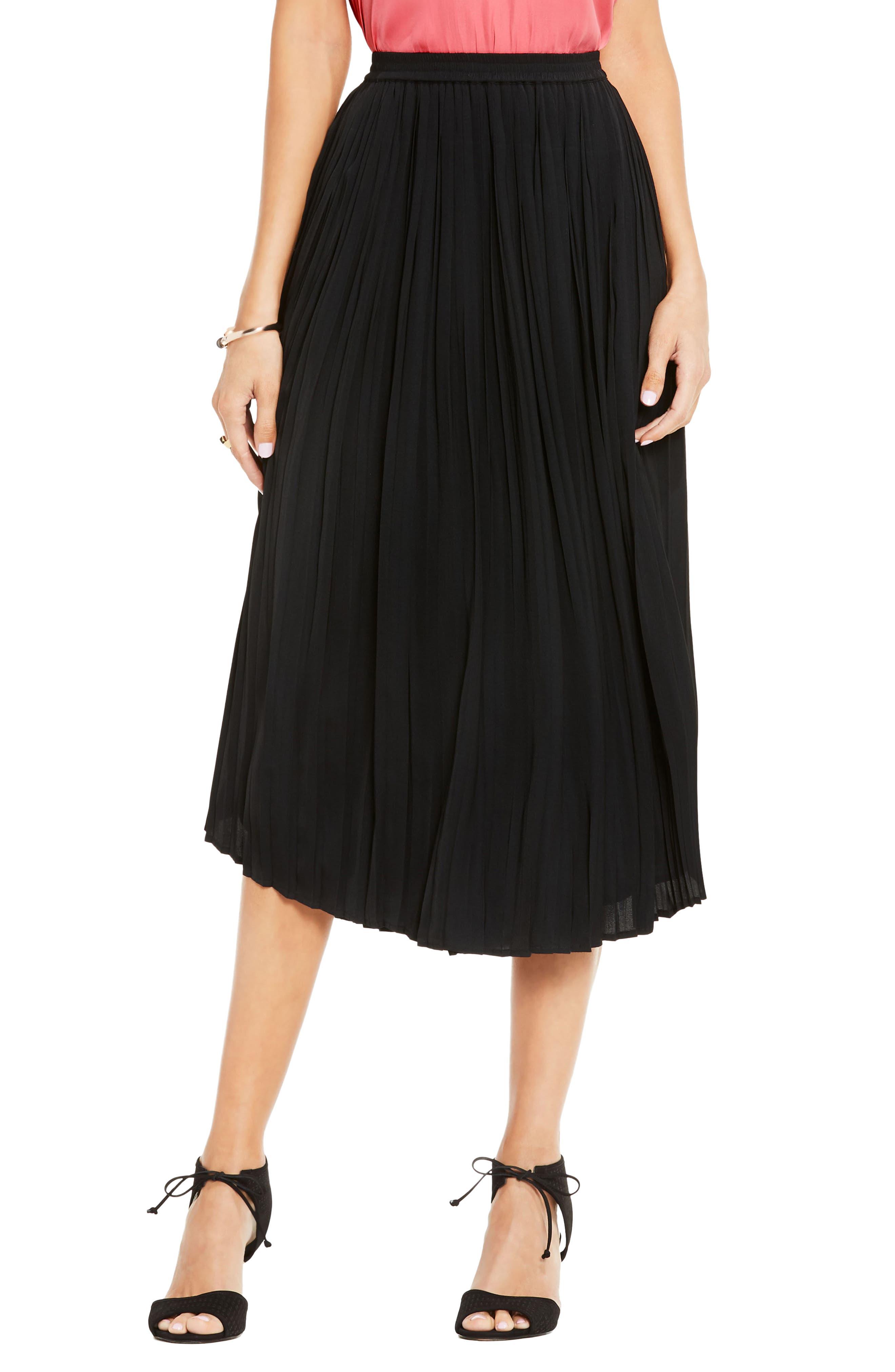 Pleat Midi Skirt,                             Main thumbnail 1, color,                             006