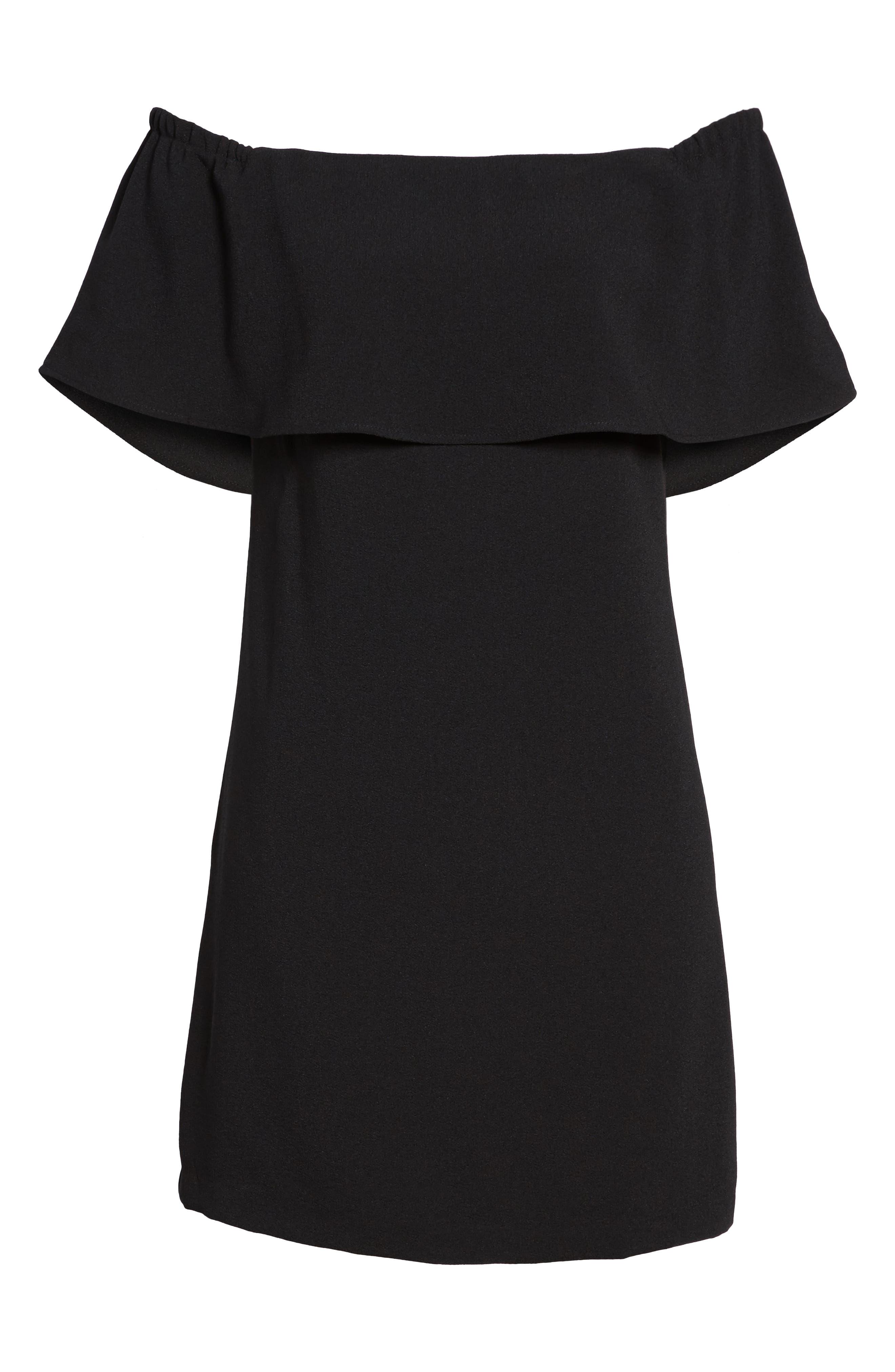 Charles Henry Off The Shoulder Dress, Black