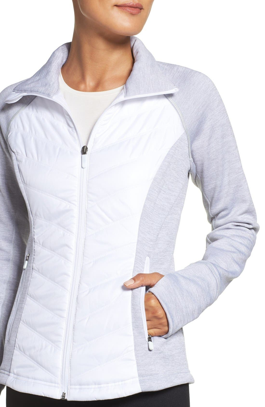 Zelfusion Reflective Quilted Jacket,                             Alternate thumbnail 16, color,