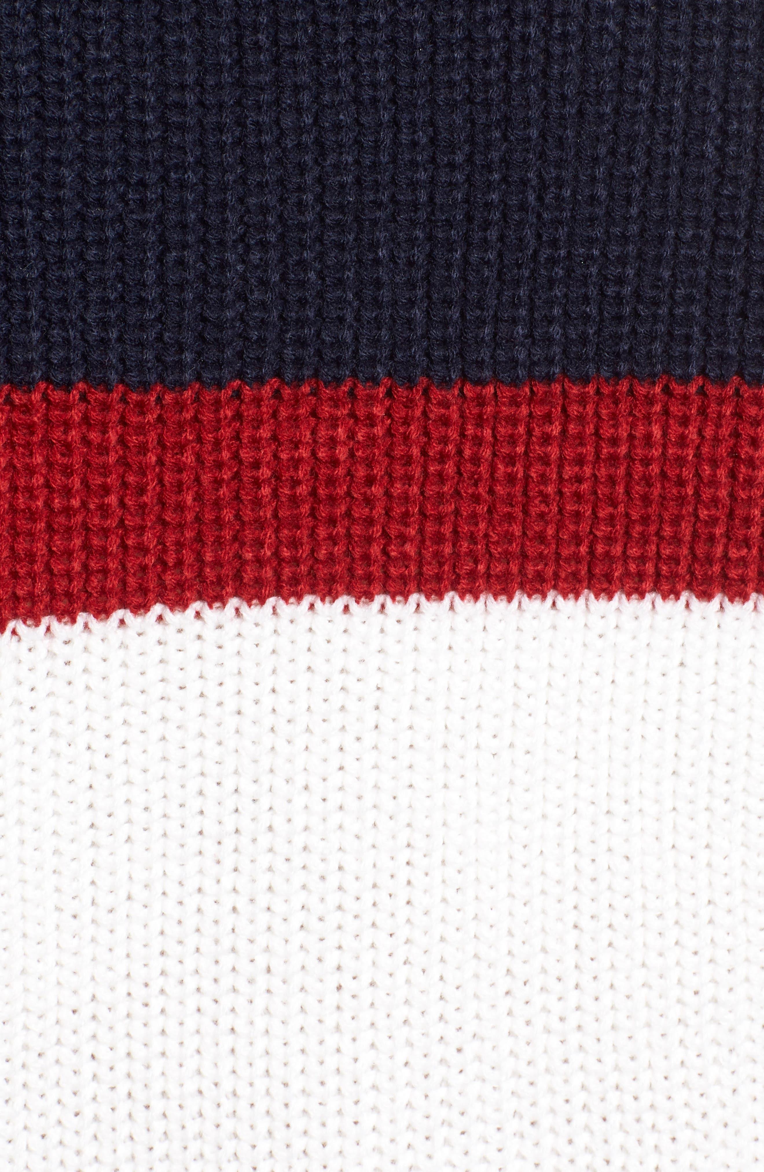Allie Colorblock Crewneck Sweater,                             Alternate thumbnail 5, color,                             NAVY MULTI