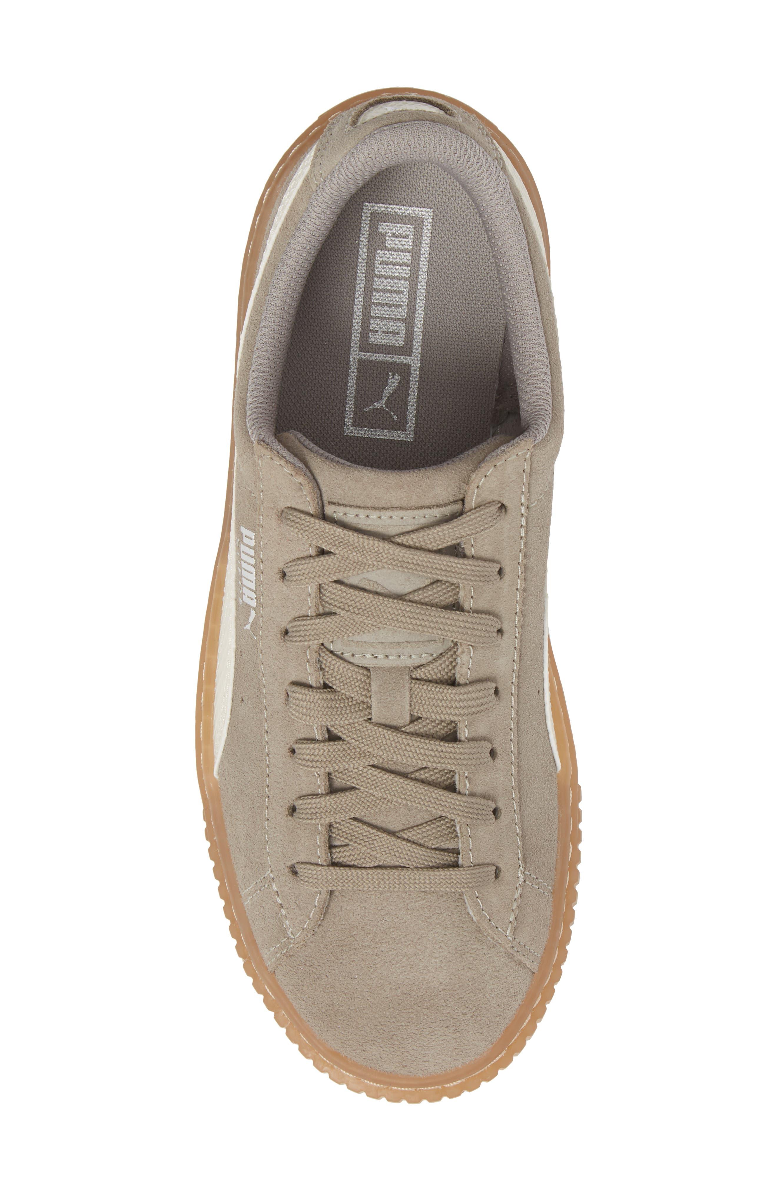 Suede Platform Jr Sneaker,                             Alternate thumbnail 5, color,                             060