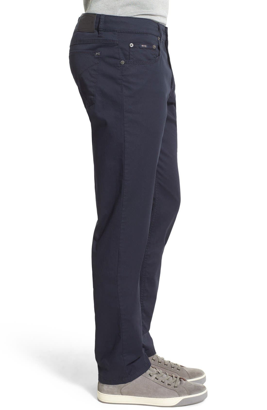 Flat Front Stretch Cotton Straight Leg Trousers,                             Alternate thumbnail 3, color,                             401