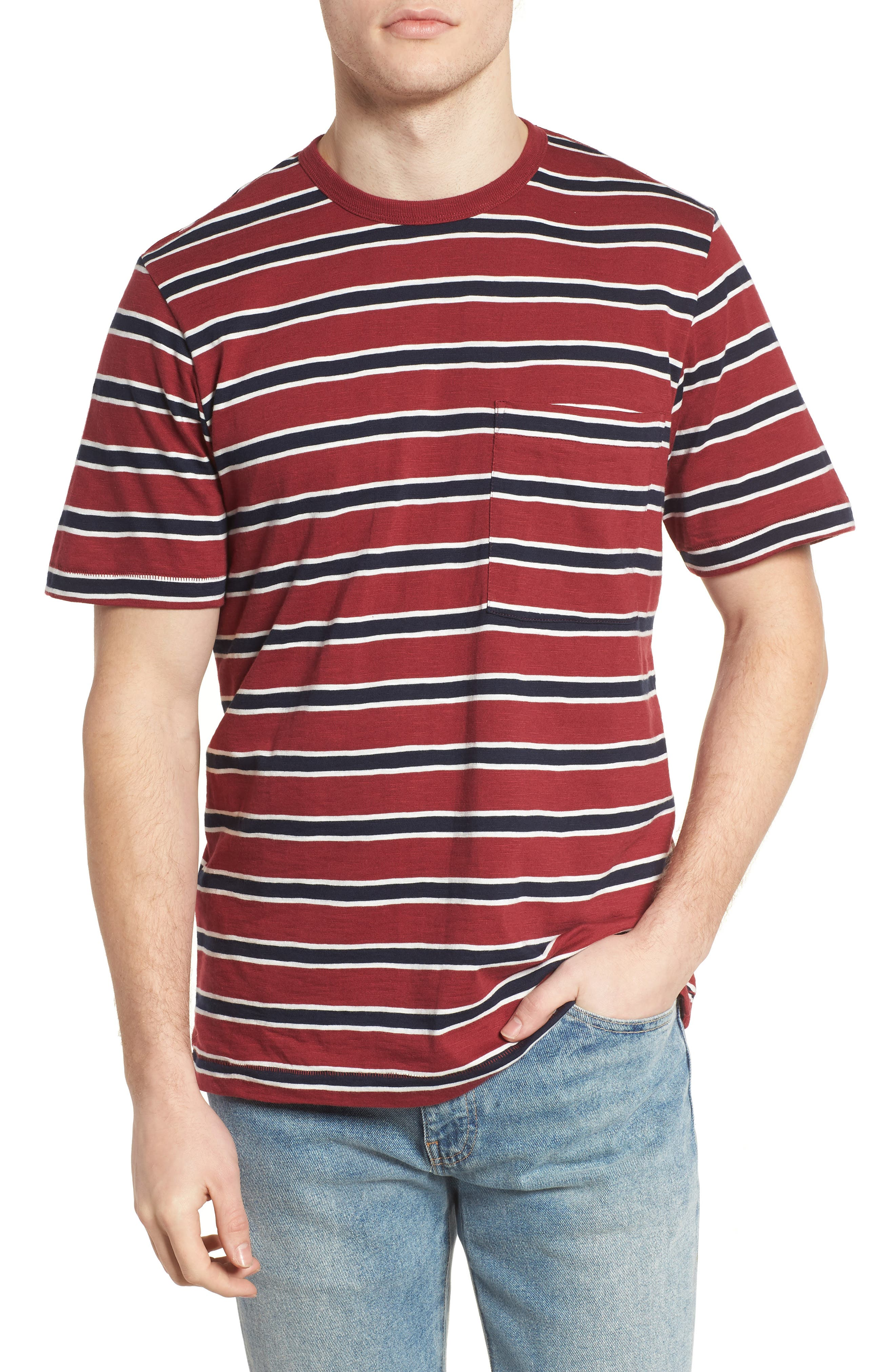 Old School Slim Fit Stripe T-Shirt,                             Main thumbnail 1, color,                             603