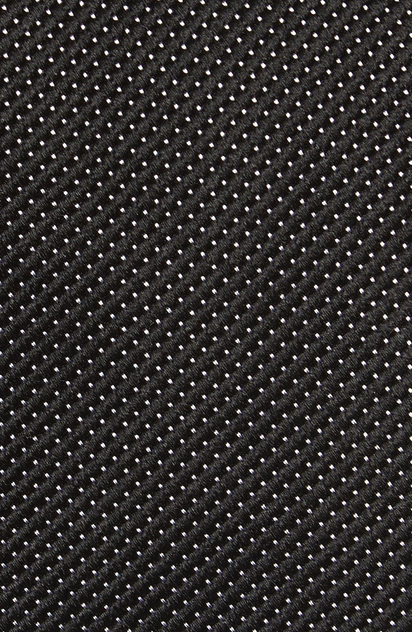 Vendôme Dot Silk Tie,                             Alternate thumbnail 2, color,                             BLACK