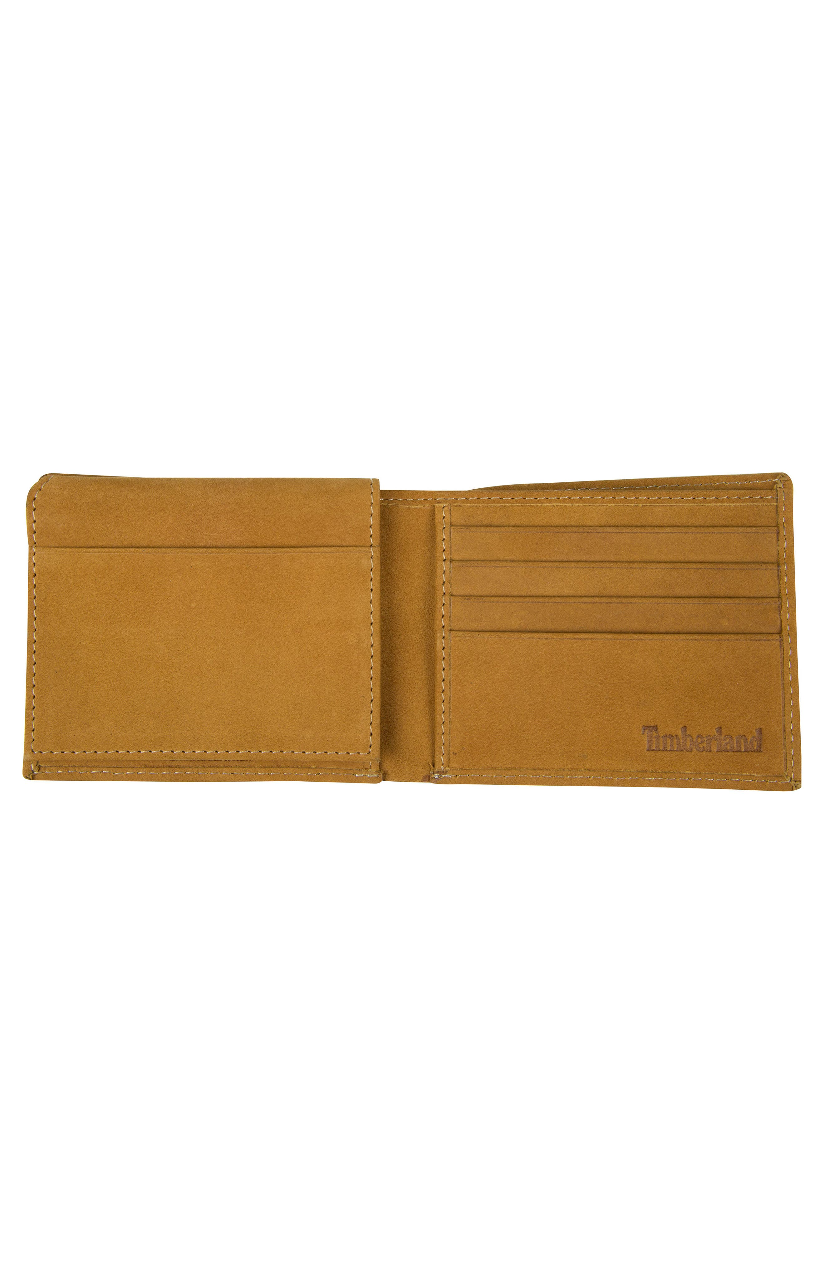 Icon Leather Wallet,                             Alternate thumbnail 2, color,                             WHEAT