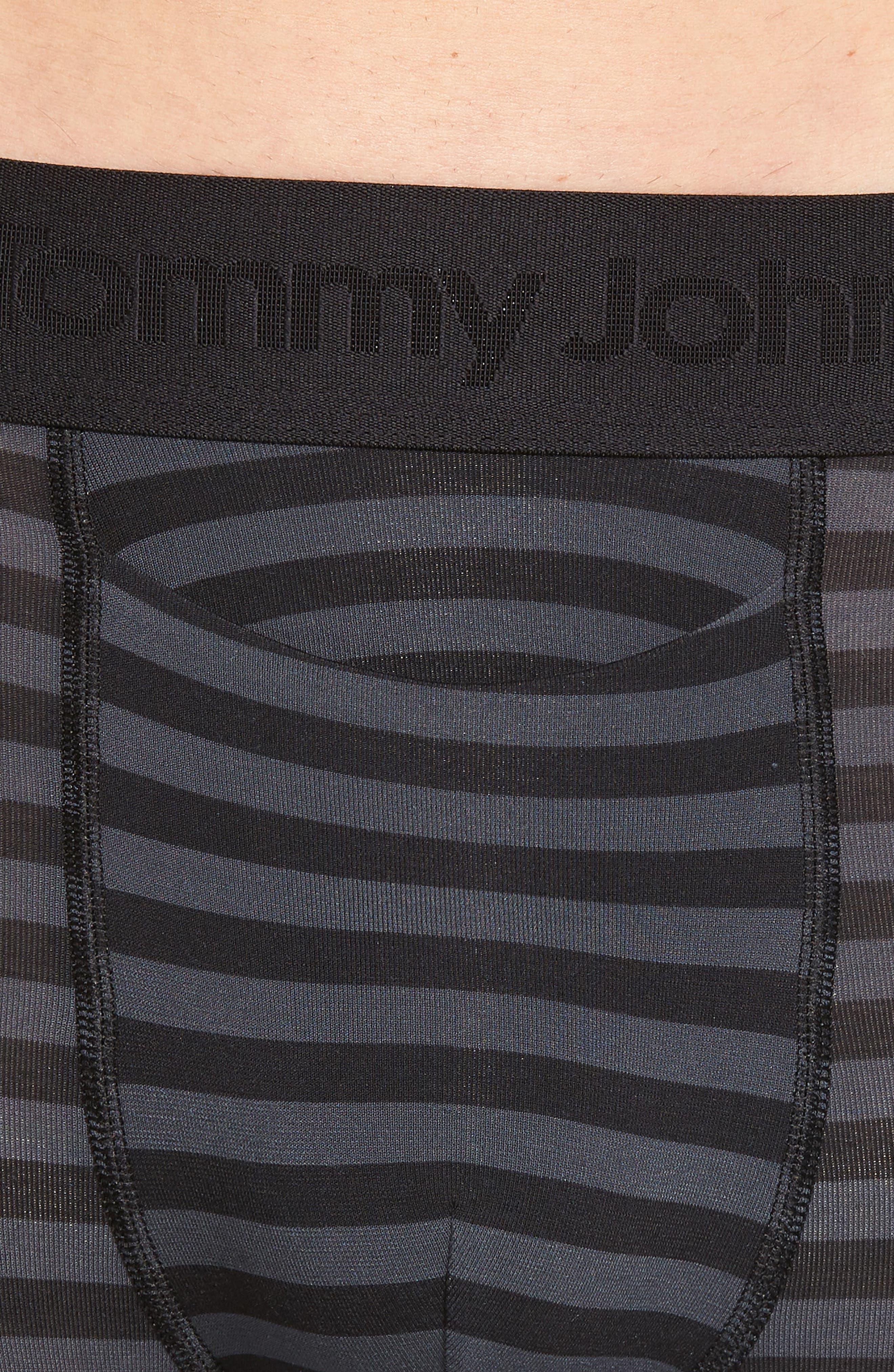 Second Skin Boxer Briefs,                             Alternate thumbnail 4, color,                             BLACK/ TURBULENCE