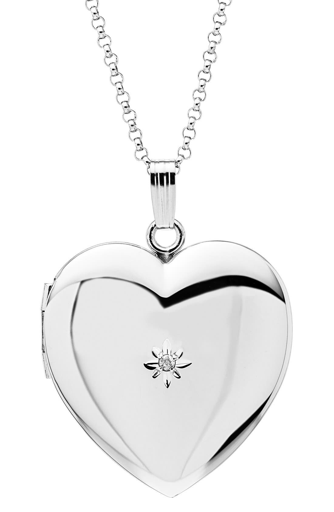 Mother & Daughter Locket Set,                             Alternate thumbnail 3, color,                             SILVER