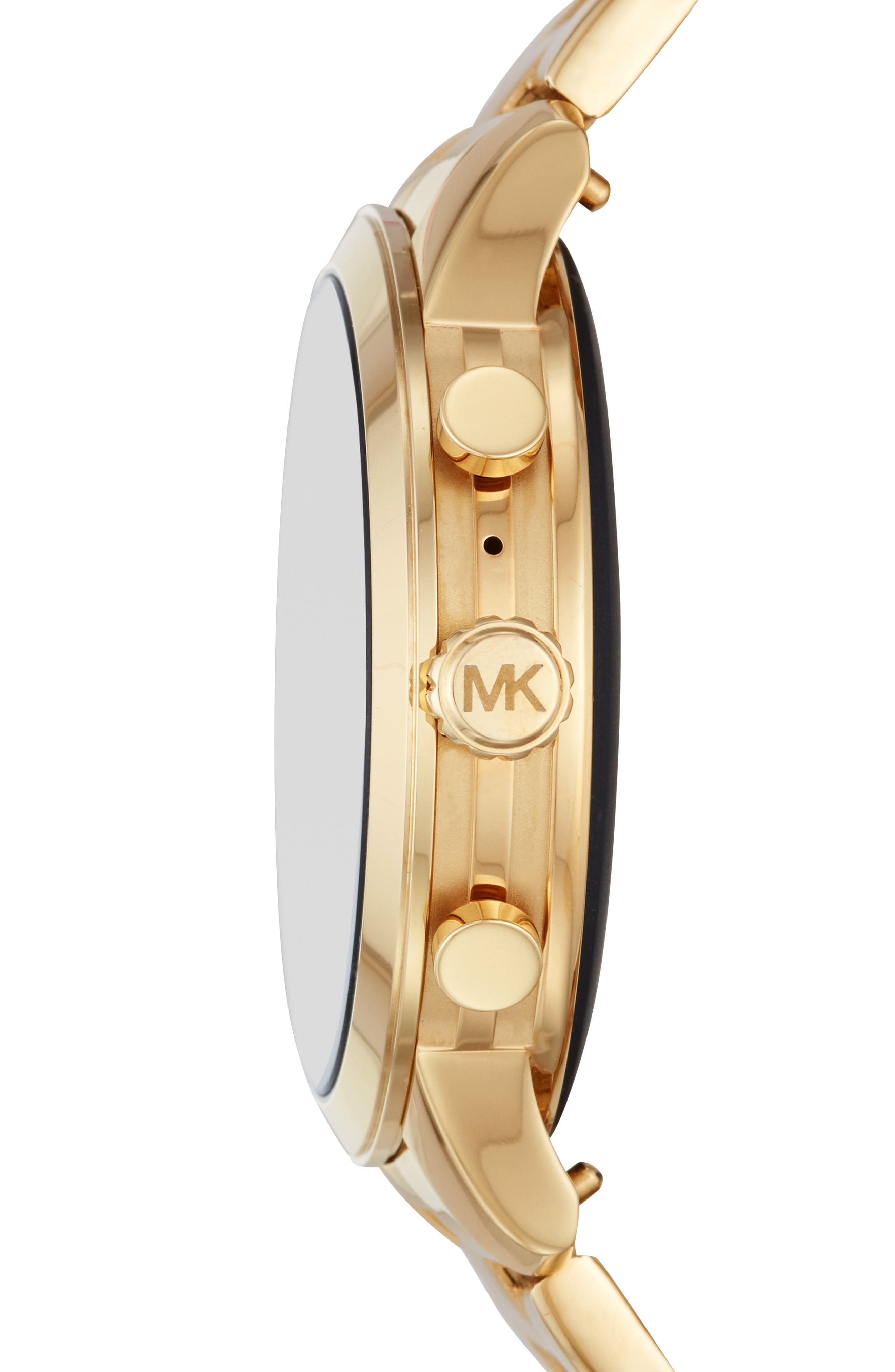 MICHAEL KORS,                             MICHAEL Michael Kors Access Runway Smart Bracelet Watch, 41mm,                             Alternate thumbnail 3, color,                             GOLD