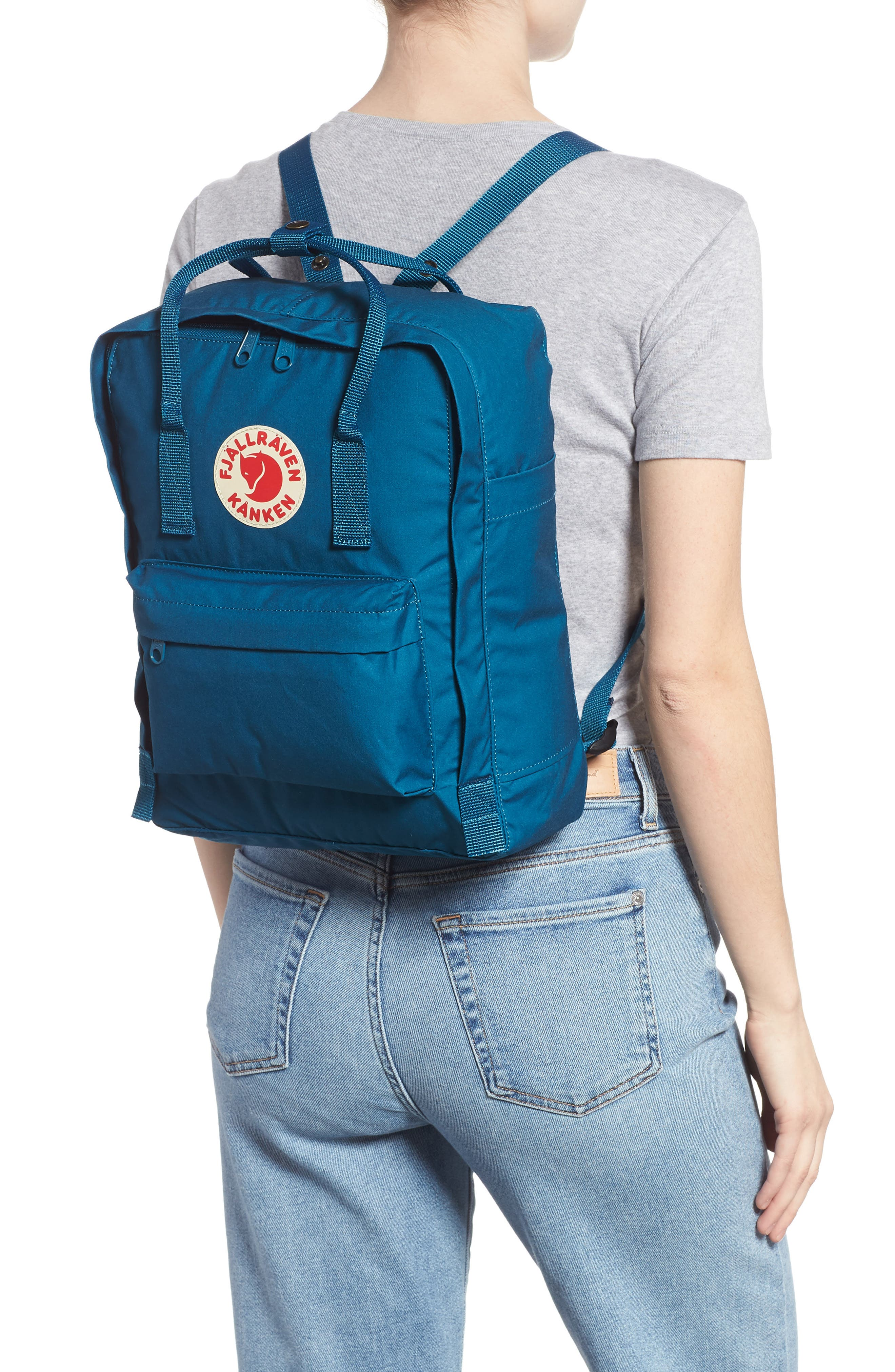 'Kånken' Water Resistant Backpack,                             Alternate thumbnail 2, color,                             GLACIER GREEN