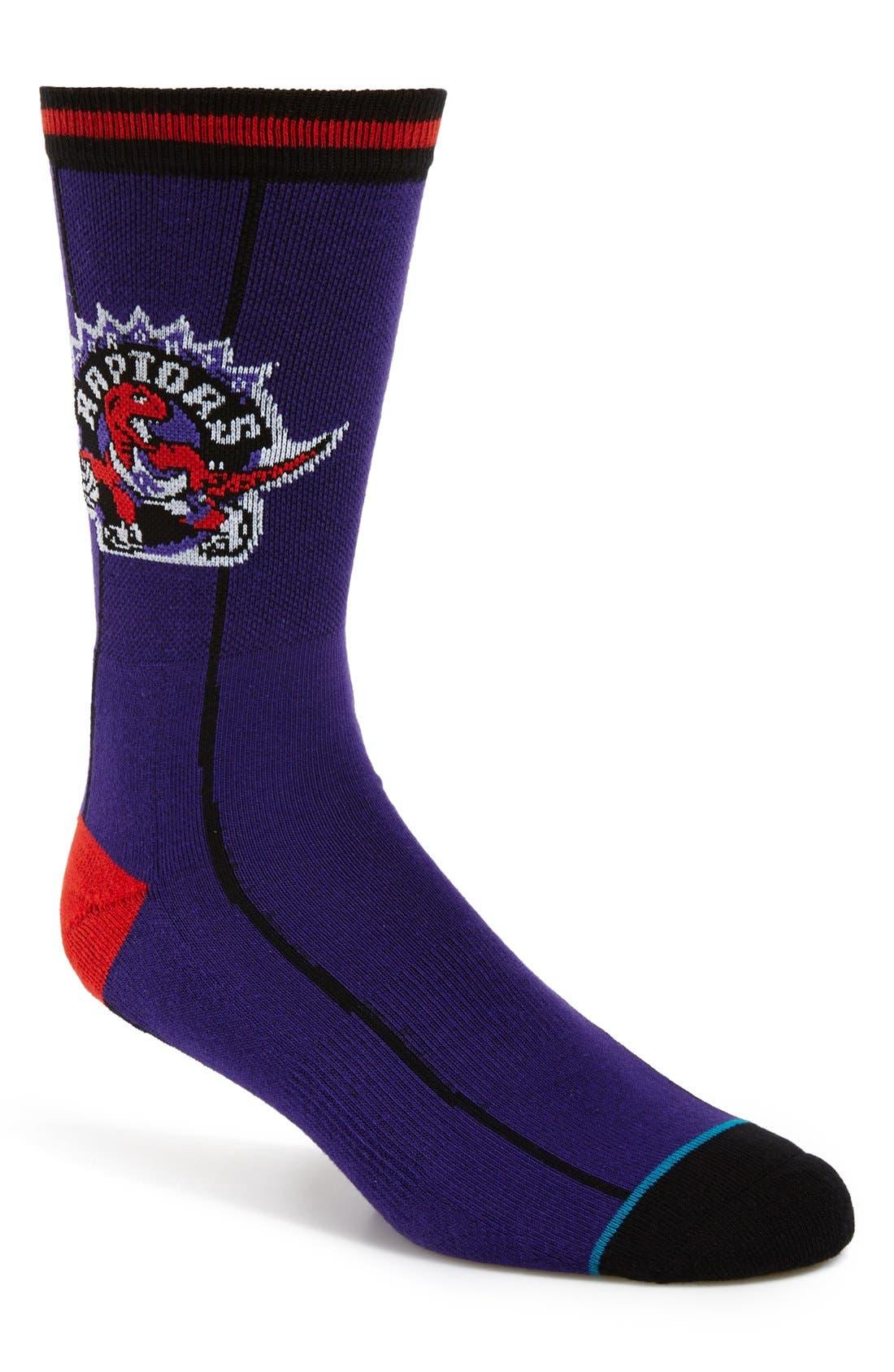 'Toronto Raptors - NBA Legends' Socks, Main, color, 510