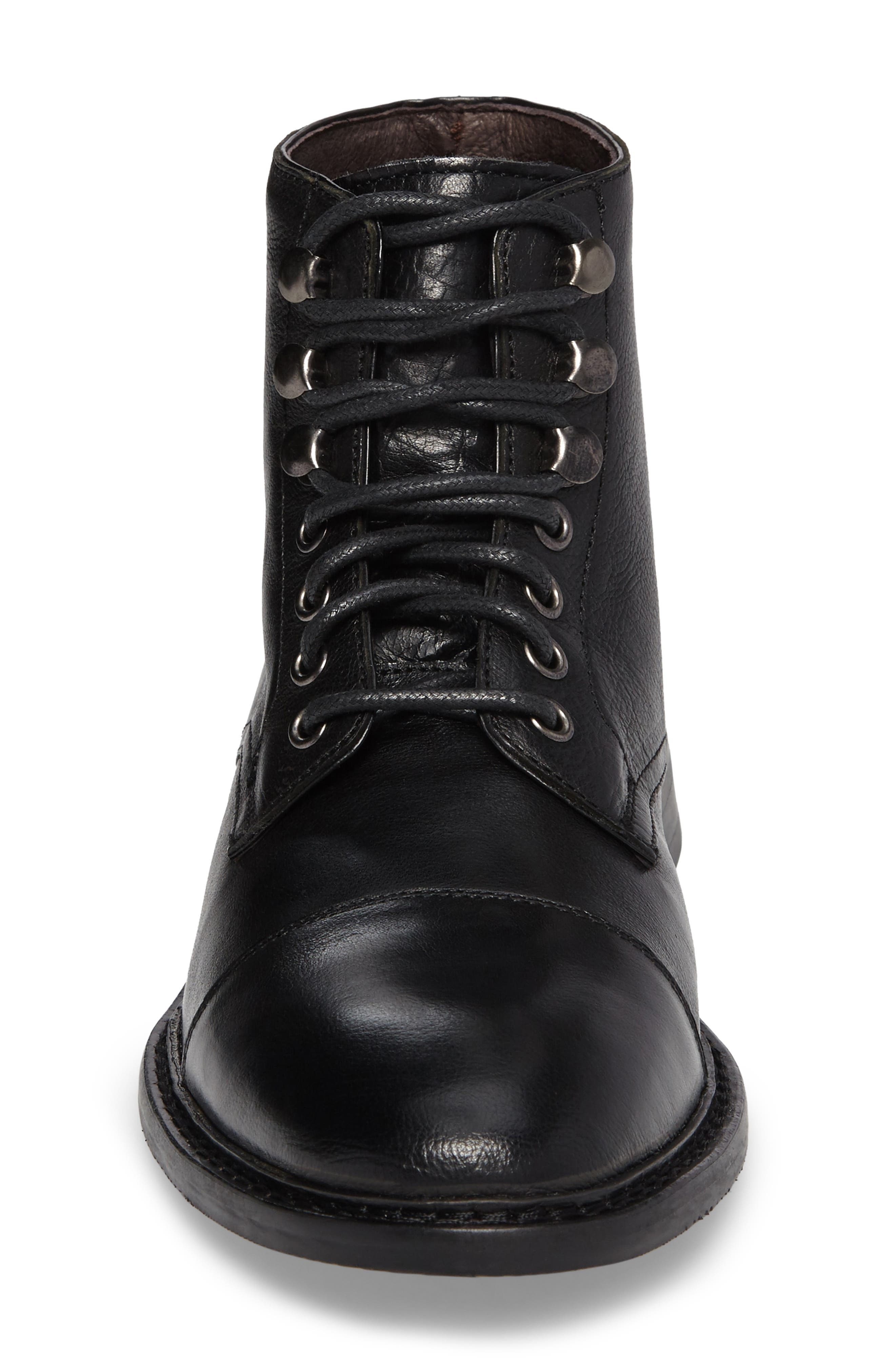 Piston Cap Toe Boot,                             Alternate thumbnail 4, color,                             001