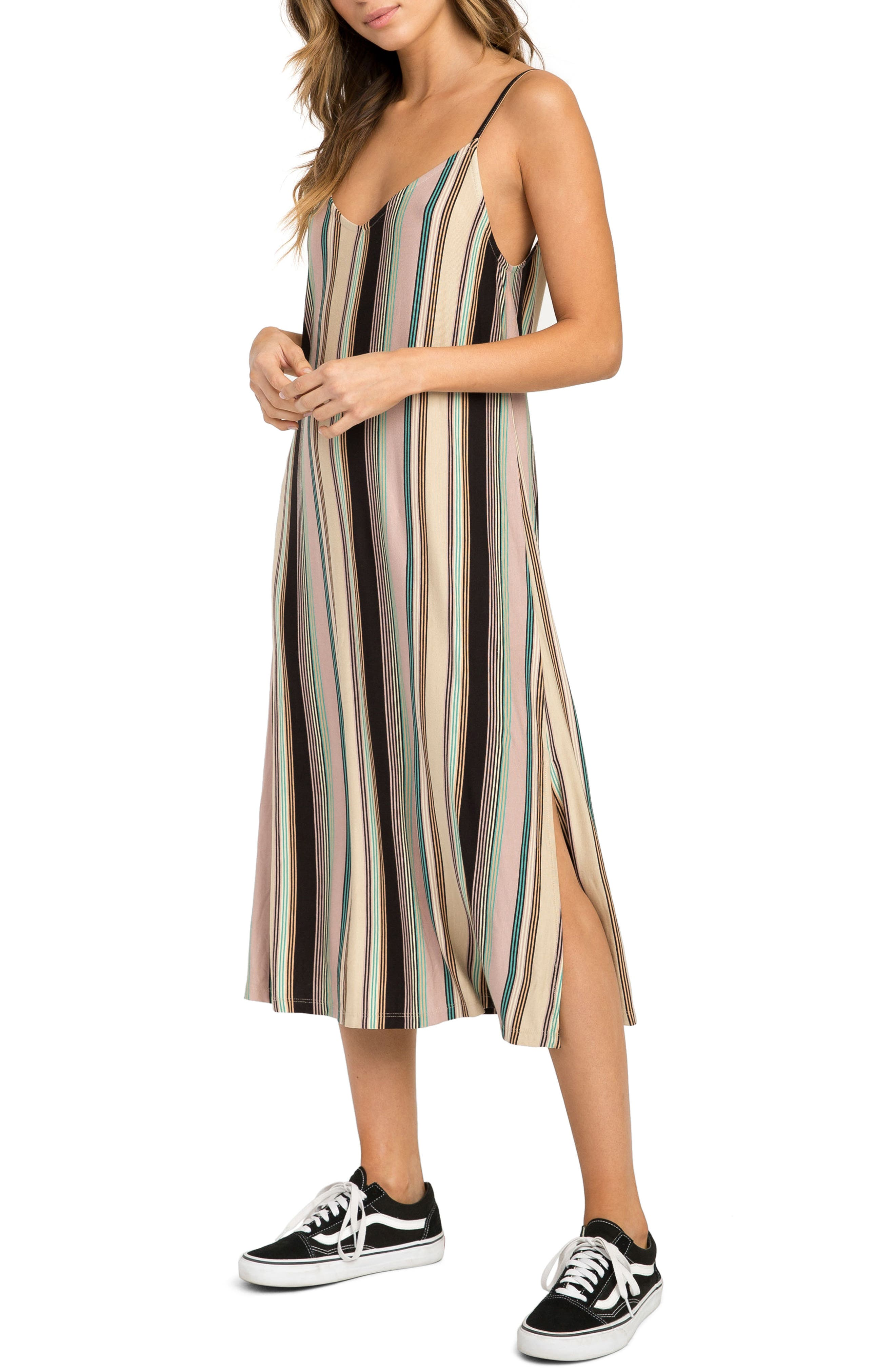 Jasmine Stripe Midi Dress,                             Alternate thumbnail 3, color,