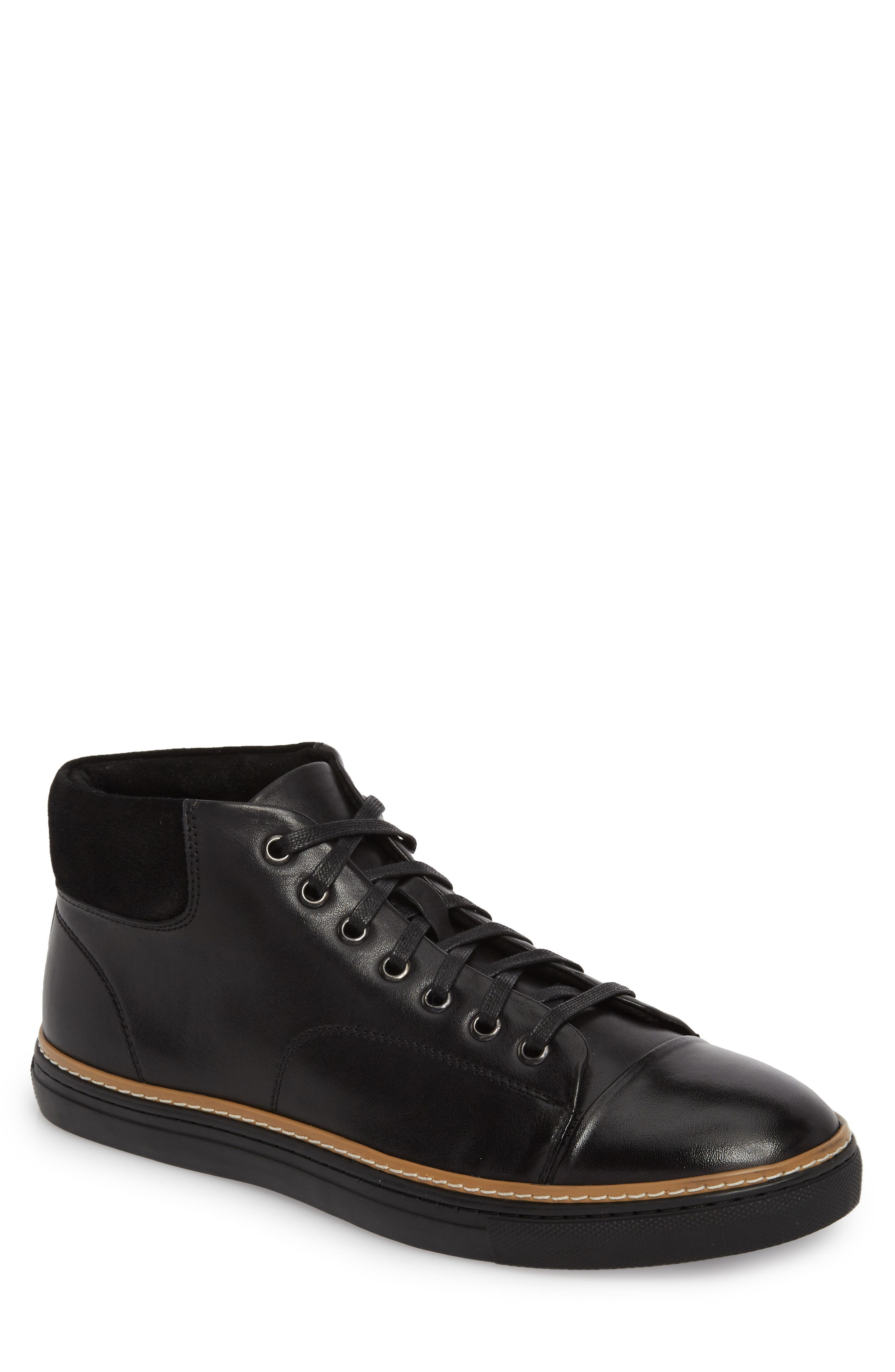 Grove Sneaker,                         Main,                         color, BLACK LEATHER