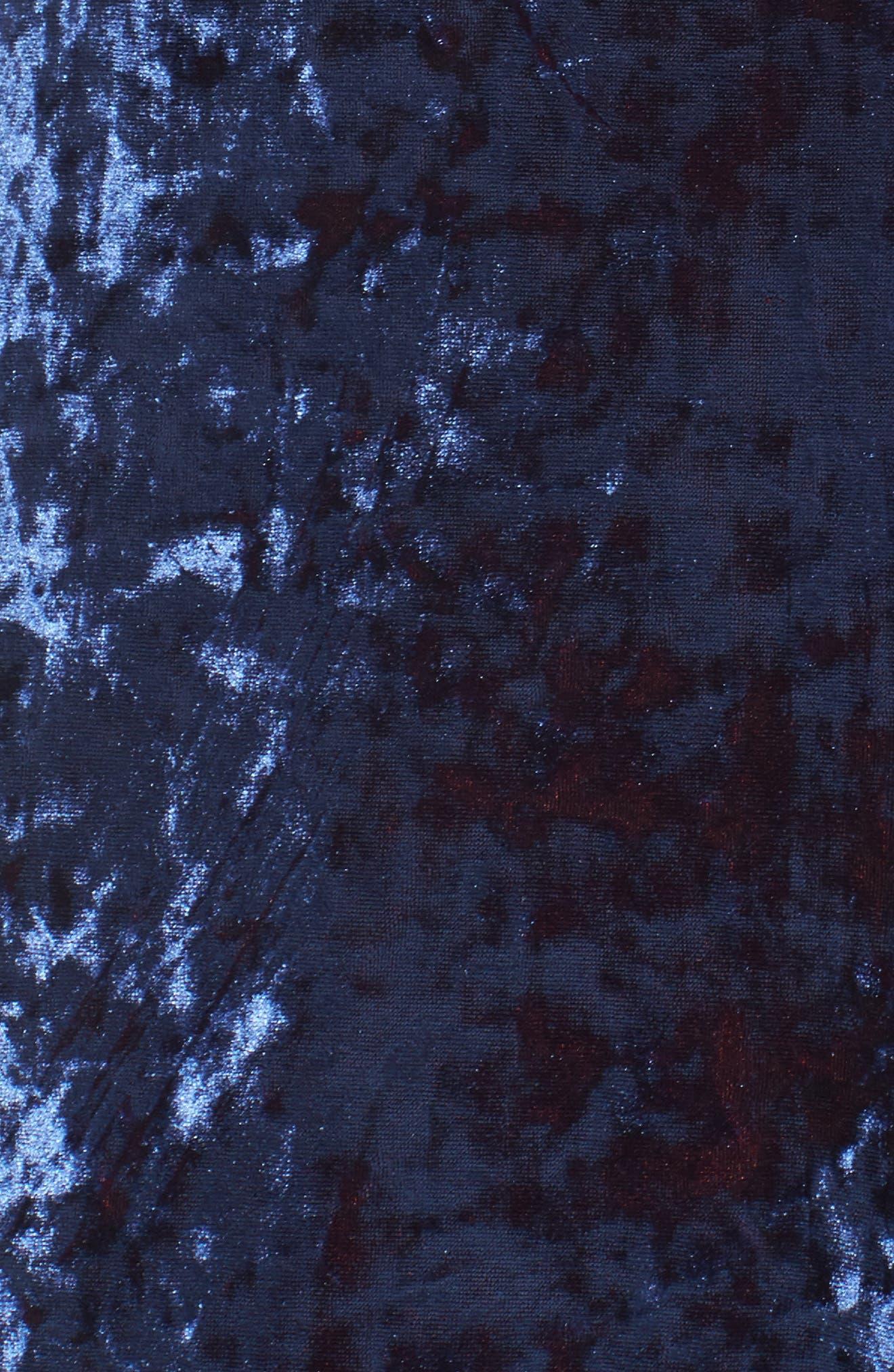 Regina Crushed Velvet Jumpsuit,                             Alternate thumbnail 5, color,                             410