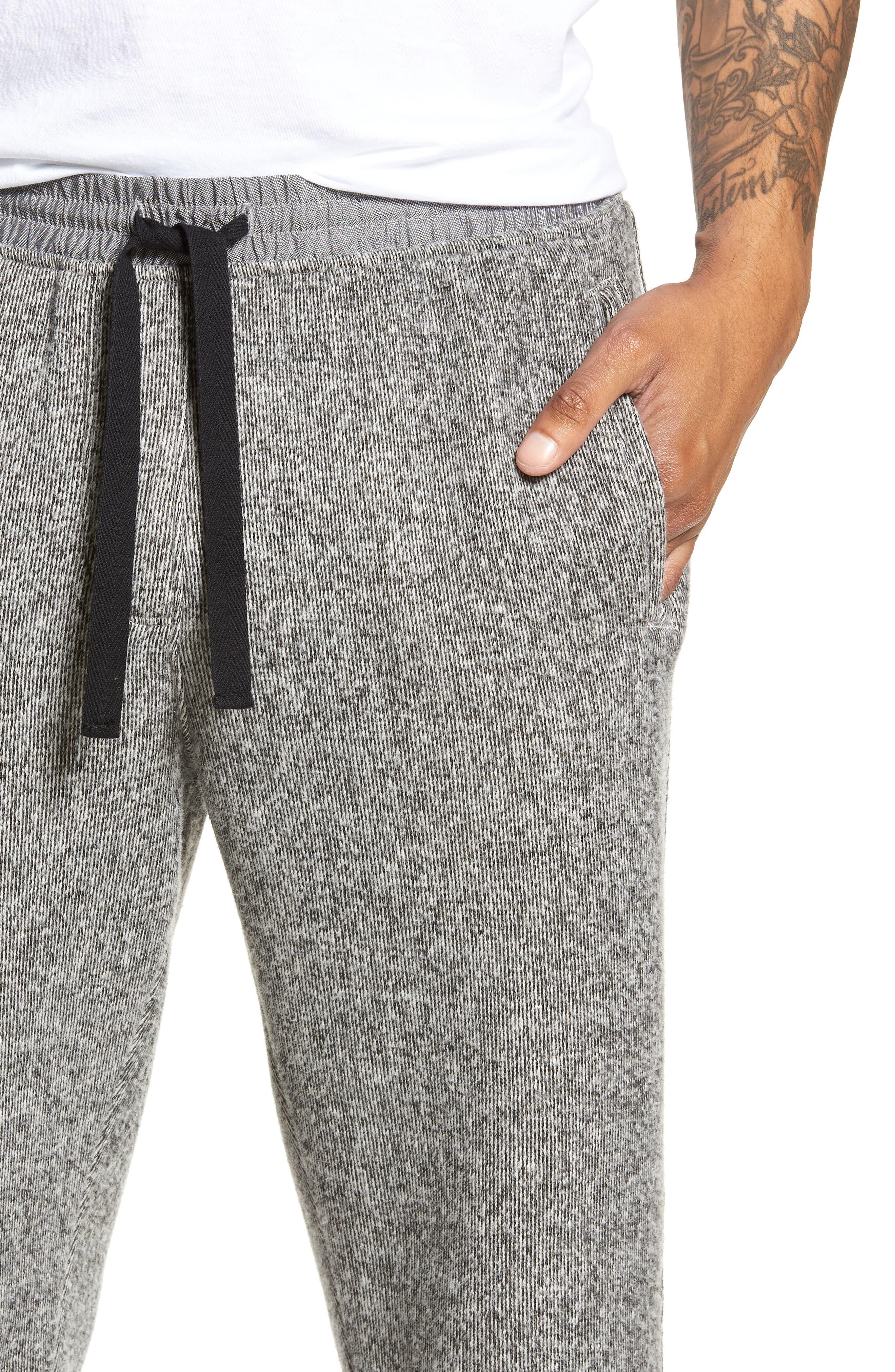 Double Face Slim Fit Sweatpants,                             Alternate thumbnail 4, color,                             001