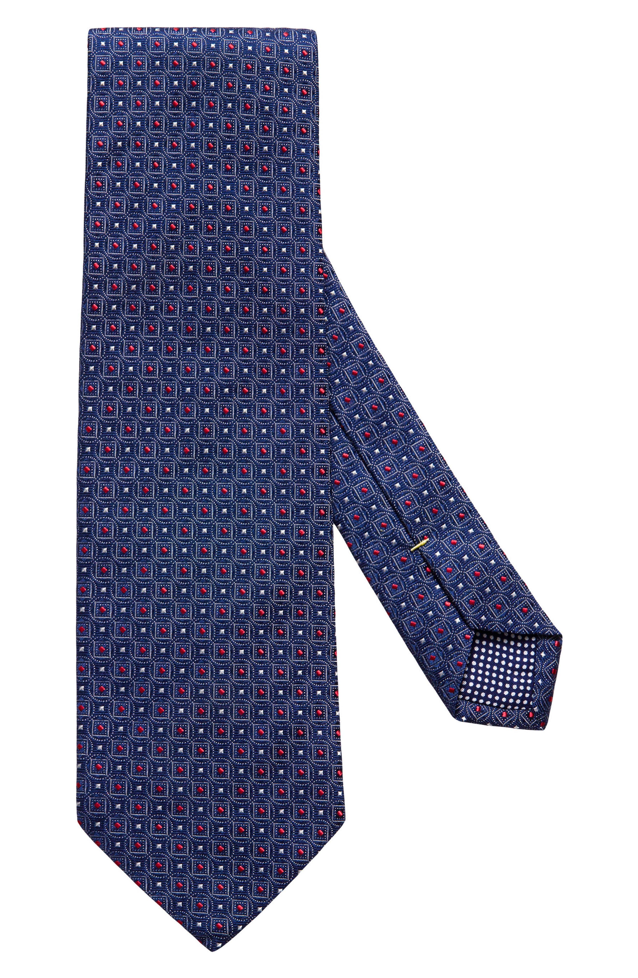 Geometric Silk Tie,                             Main thumbnail 1, color,