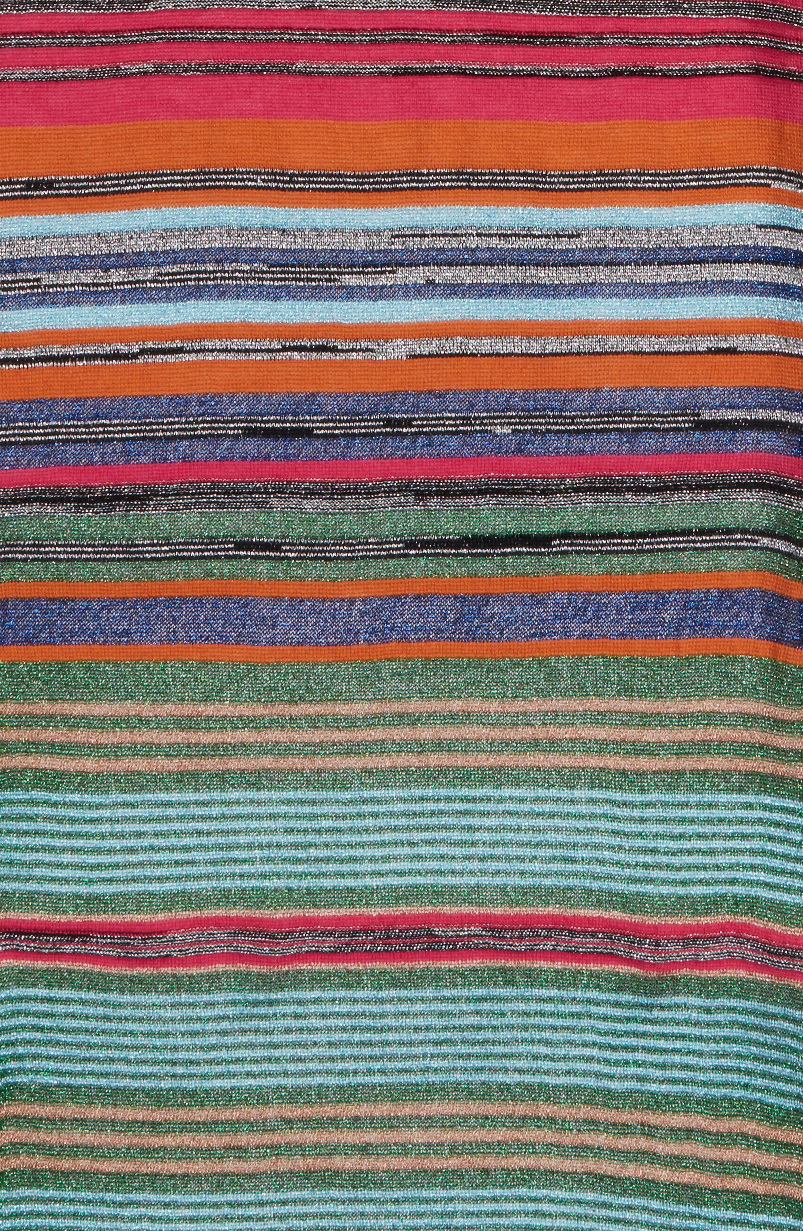 Metallic Stripe Scarf,                             Alternate thumbnail 4, color,                             GREEN