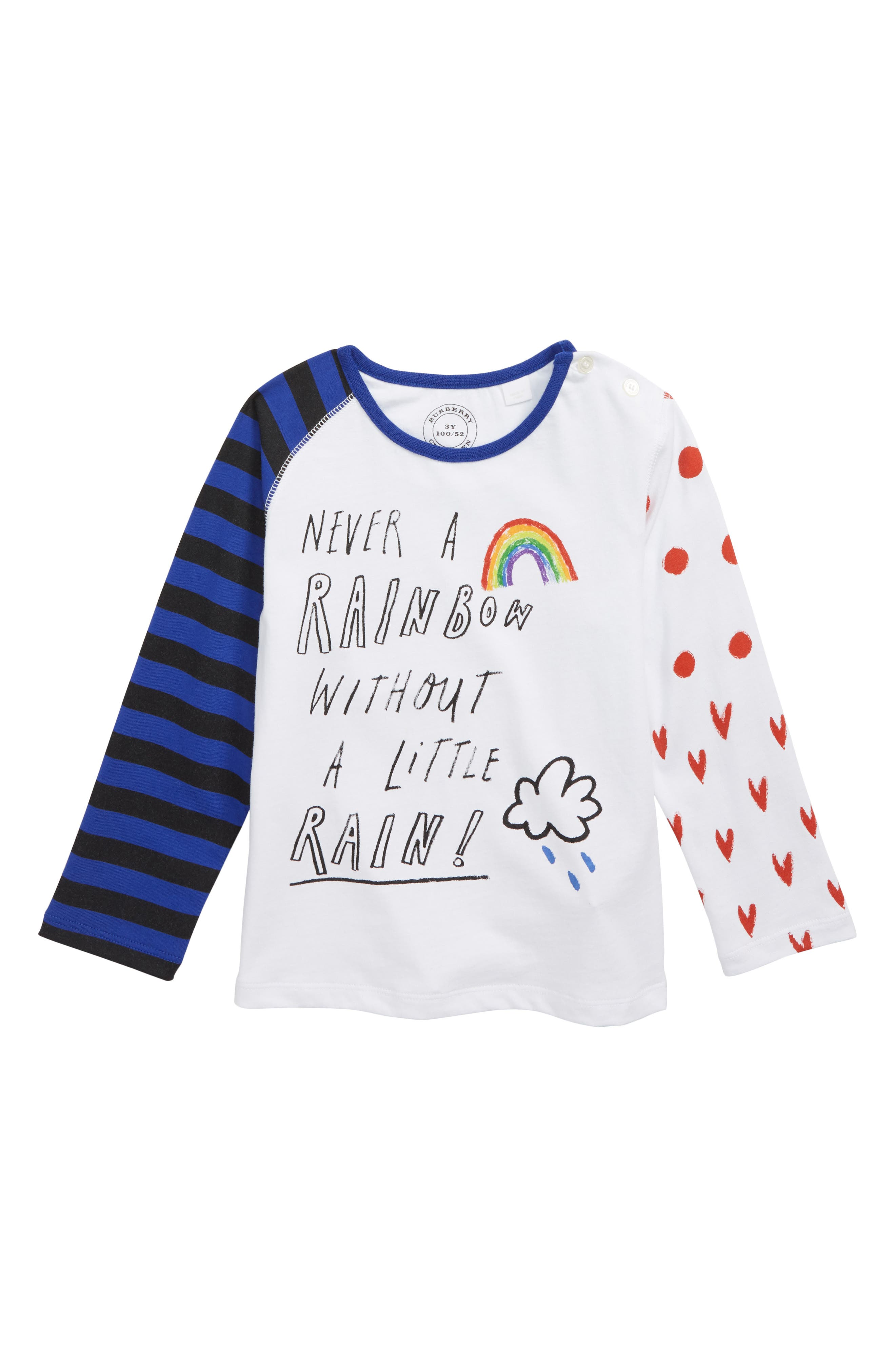 Never a Rainbow Without a Little Rain Tee,                         Main,                         color, WHITE