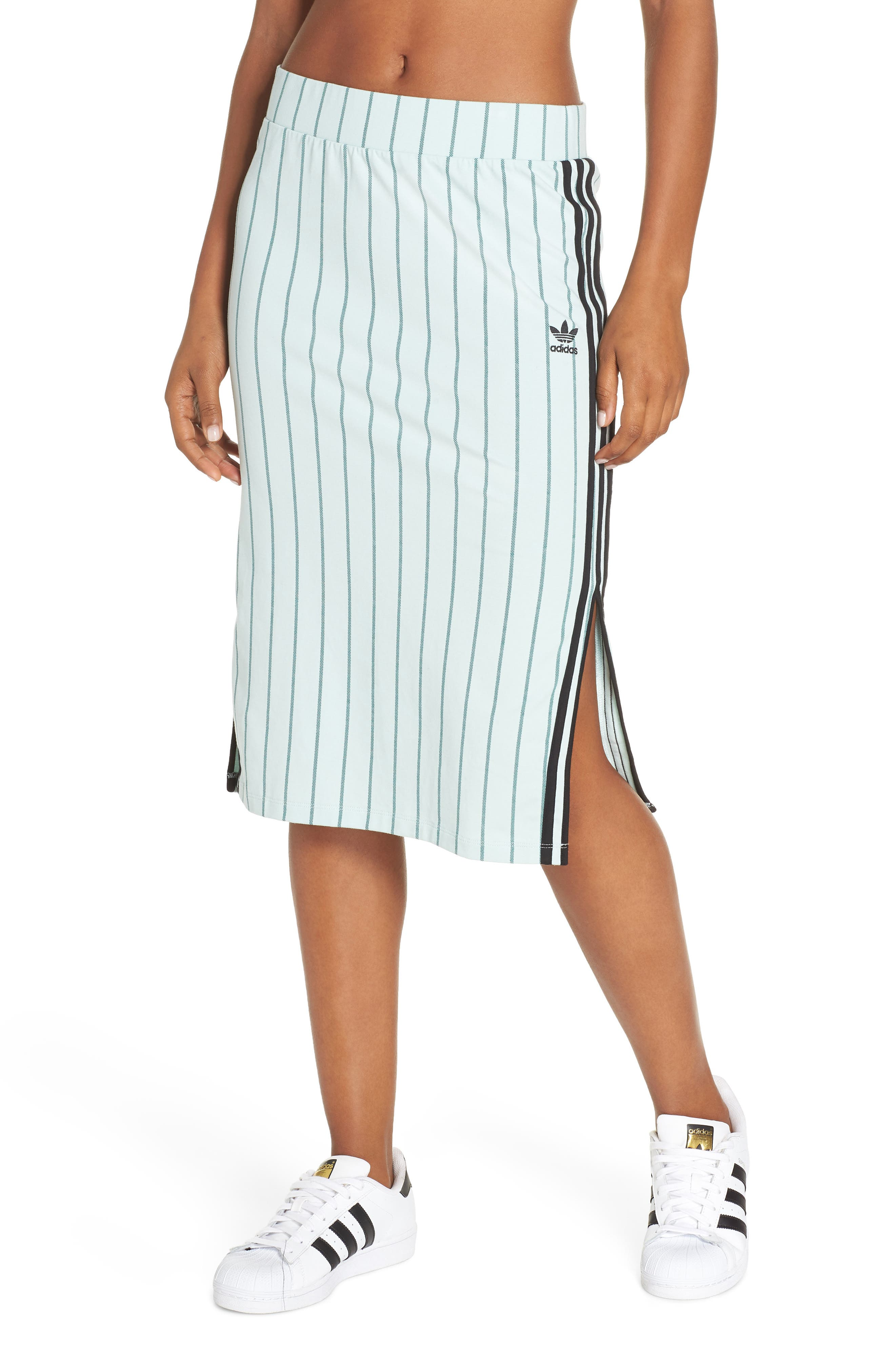 Adidas Slim Fit Baseball Pencil Skirt, Green