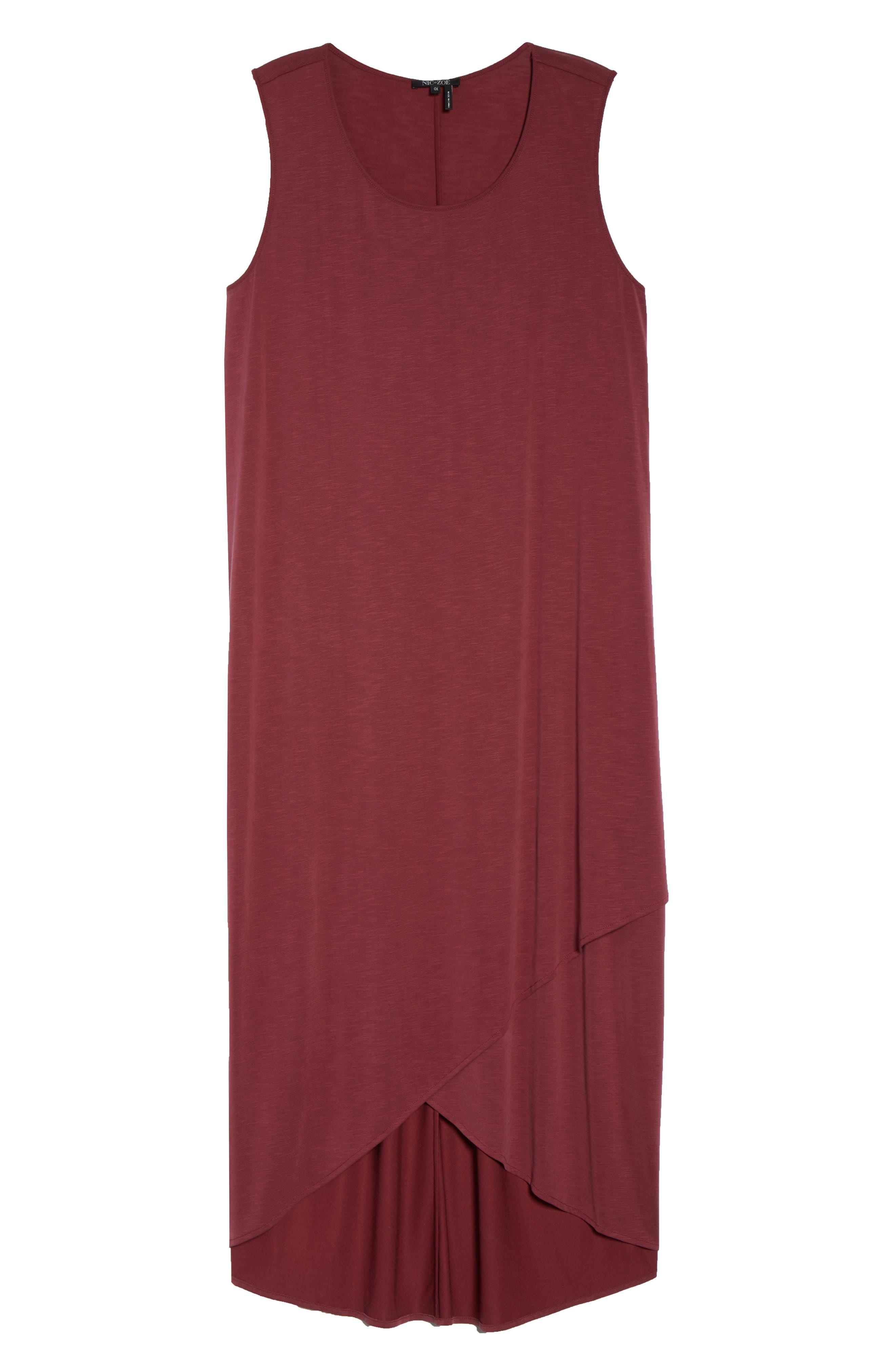 Boardwalk Jersey High/Low Dress,                             Alternate thumbnail 7, color,                             WASHED RAISIN