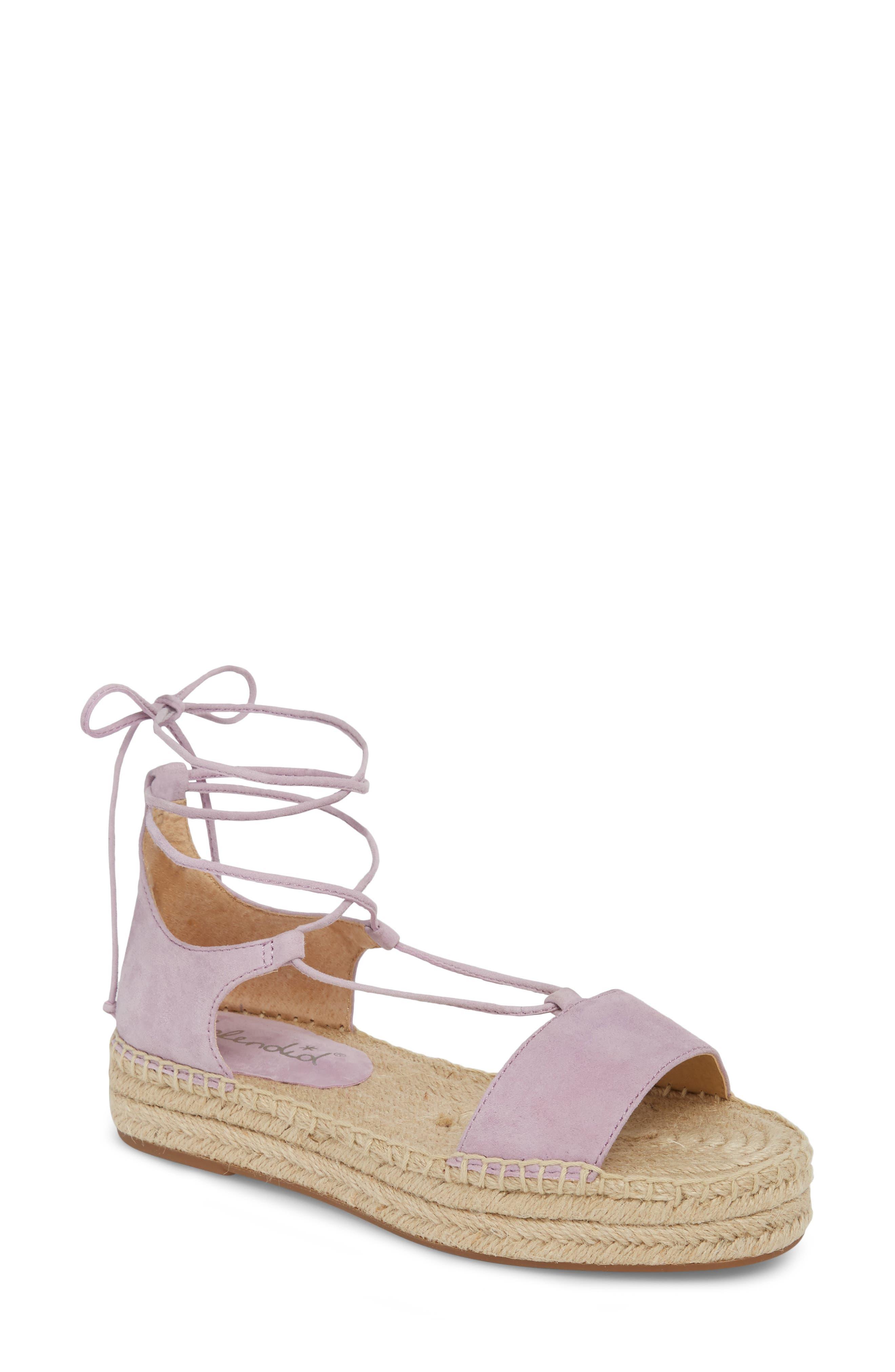 Splendid Fernanda Wraparound Platform Sandal, Purple